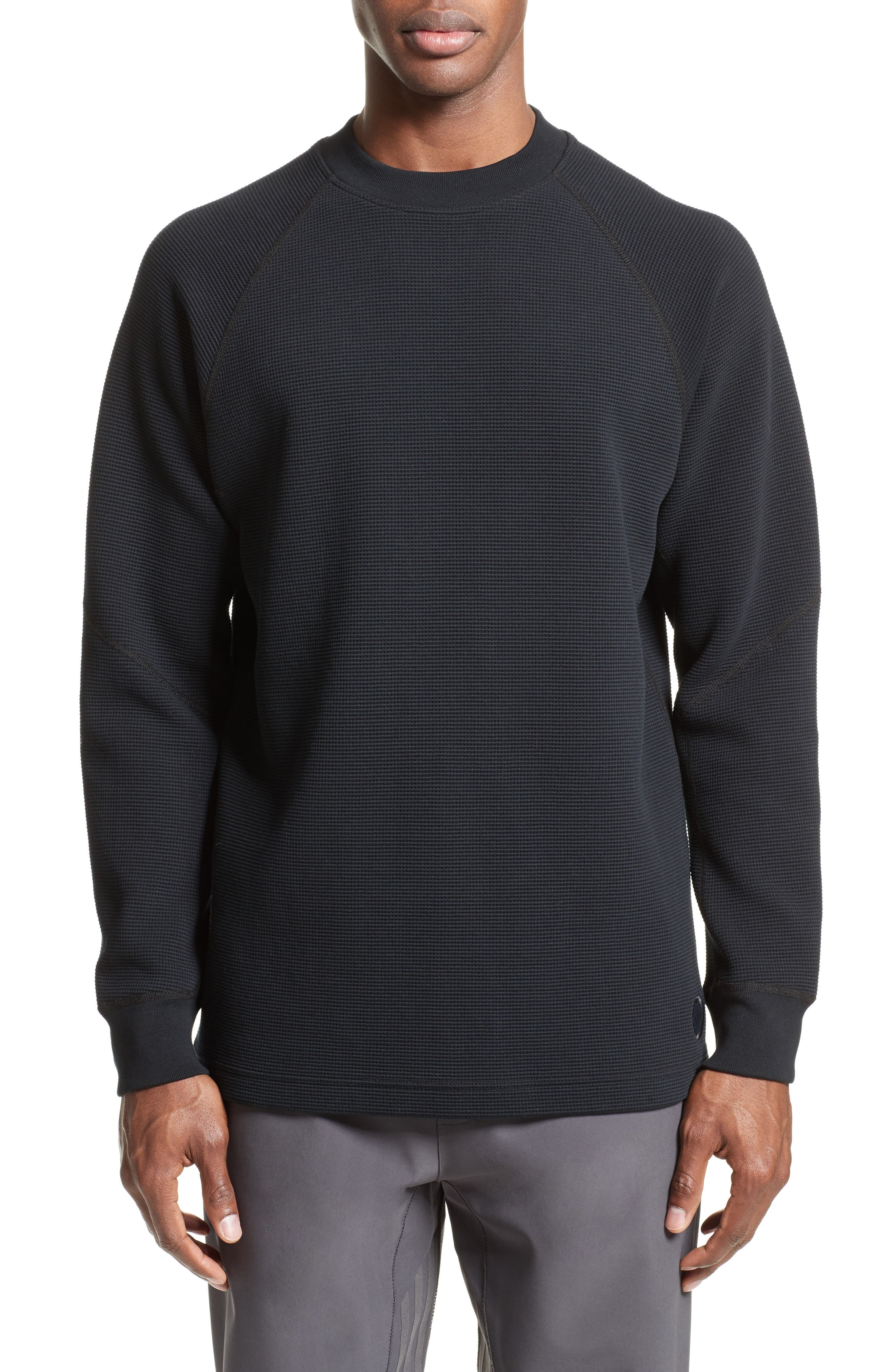 Fisherman Crewneck Sweatshirt,                         Main,                         color, Black