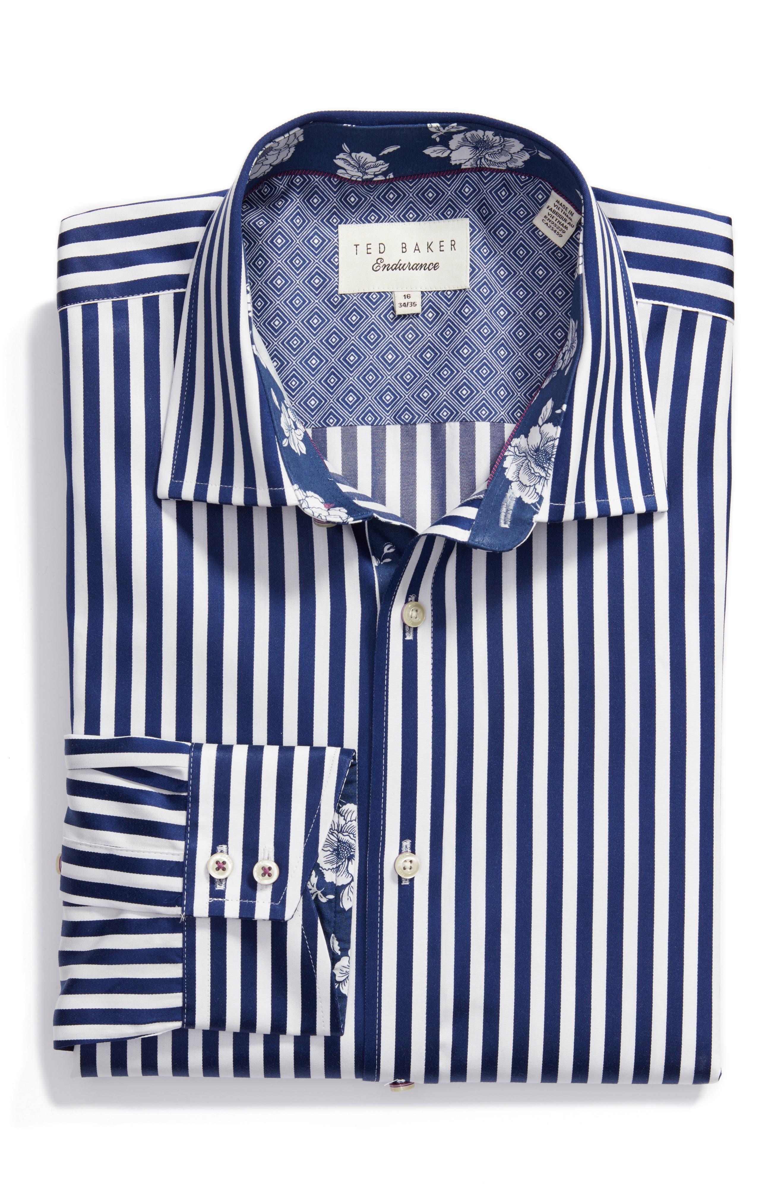 Alternate Image 1 Selected - Ted Baker London Endurance Trim Fit Dress Shirt