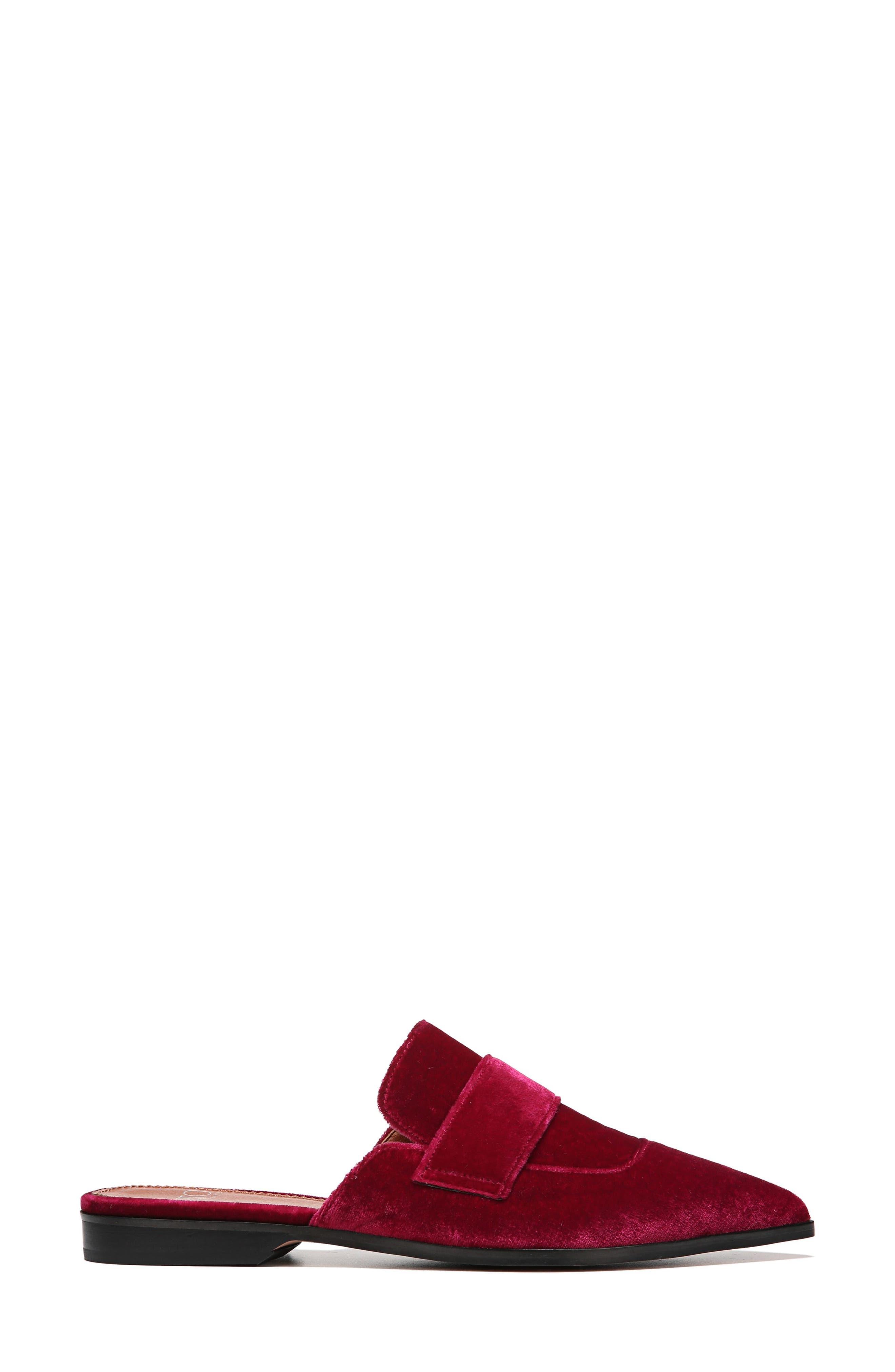 Palmer Mule,                             Alternate thumbnail 3, color,                             Ruby Velvet