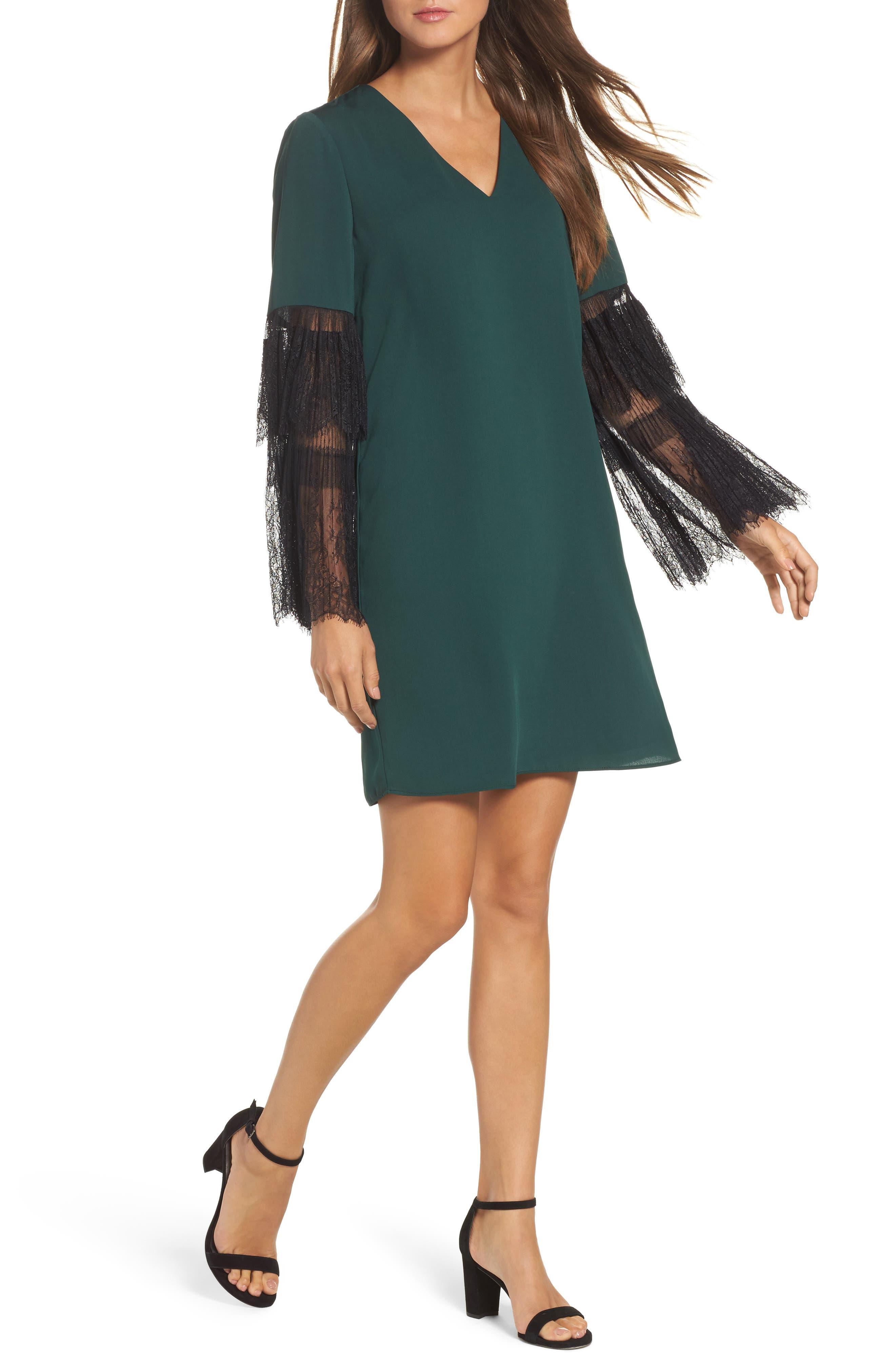 Kobi Halperin Suki Lace Sleeve Shift Dress (Nordstrom Exclusive)