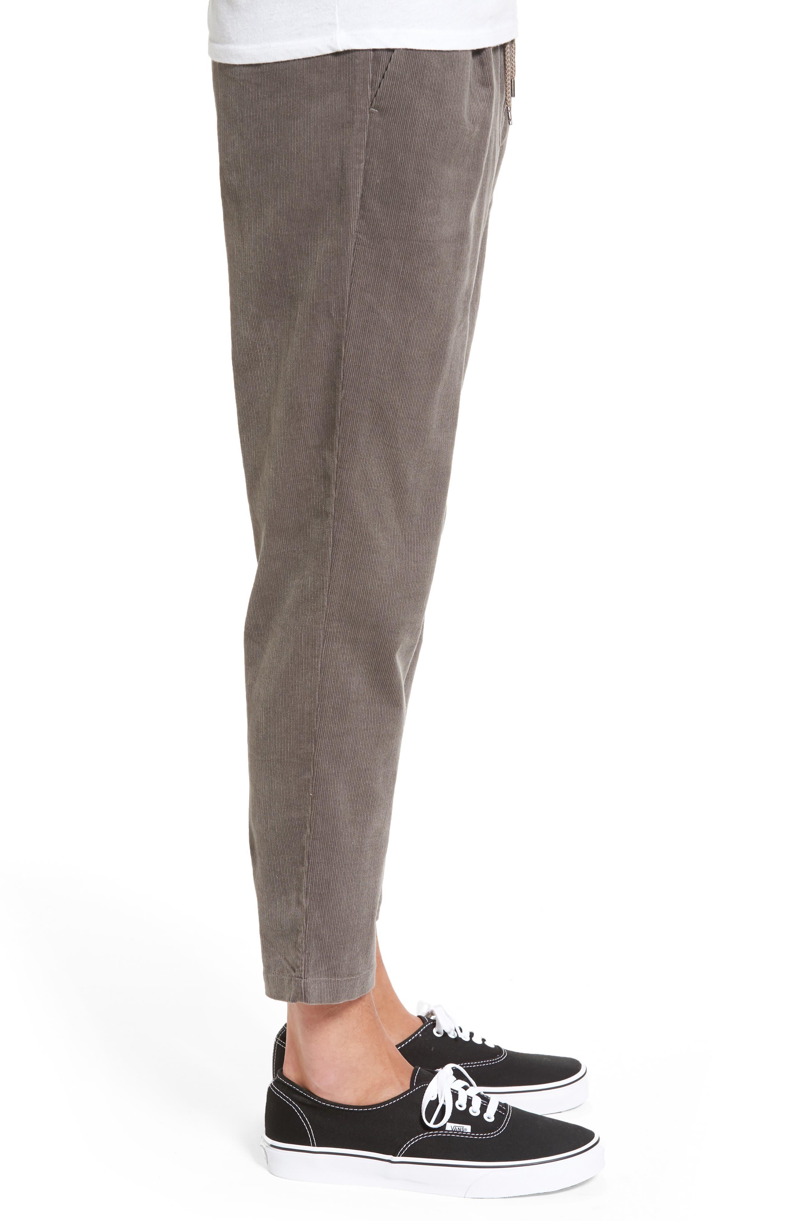 Astbury Crop Corduroy Pants,                             Alternate thumbnail 3, color,                             Grey