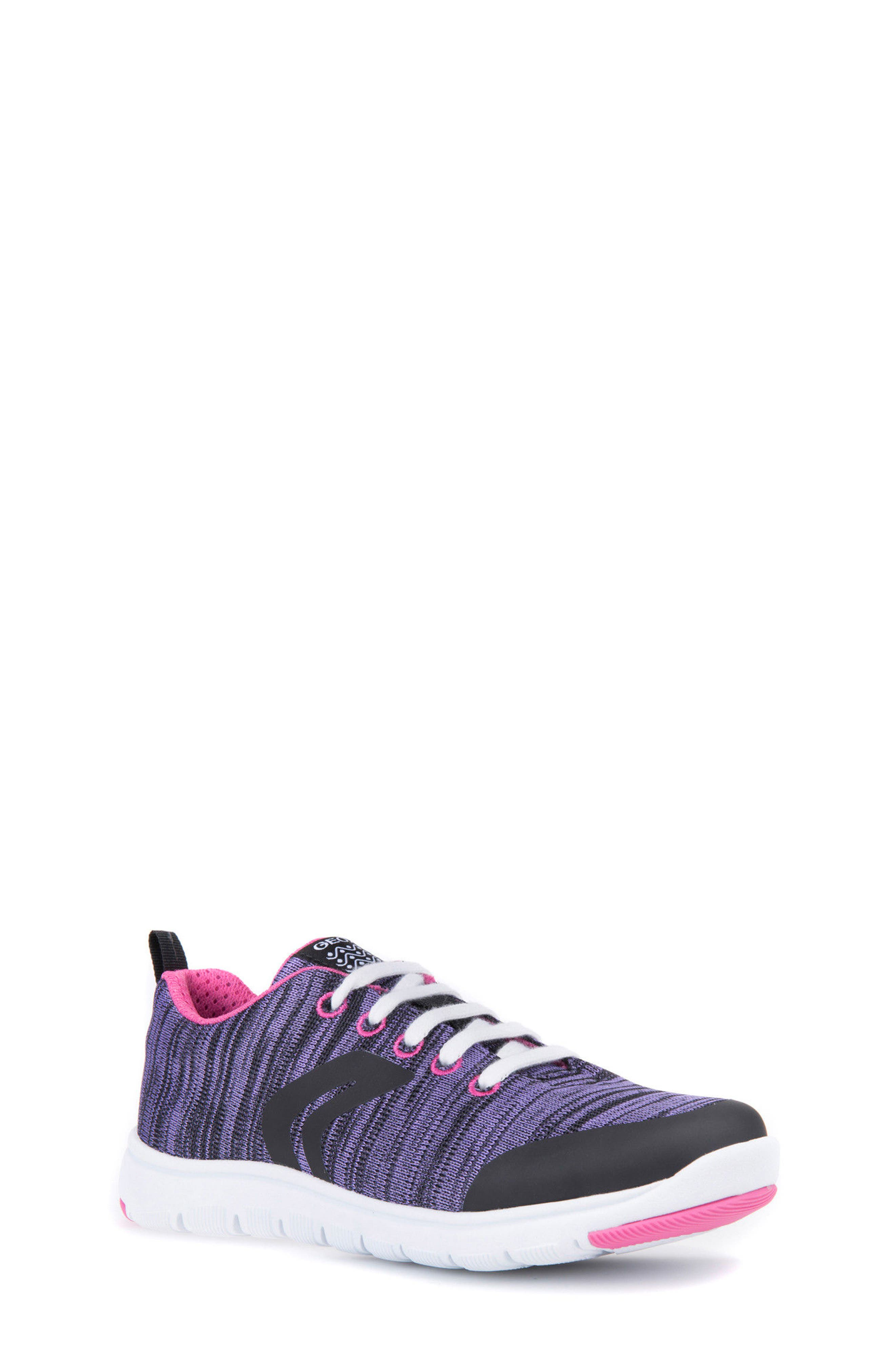 Xunday Performance Knit Low Top Sneaker,                             Main thumbnail 1, color,                             Lilac
