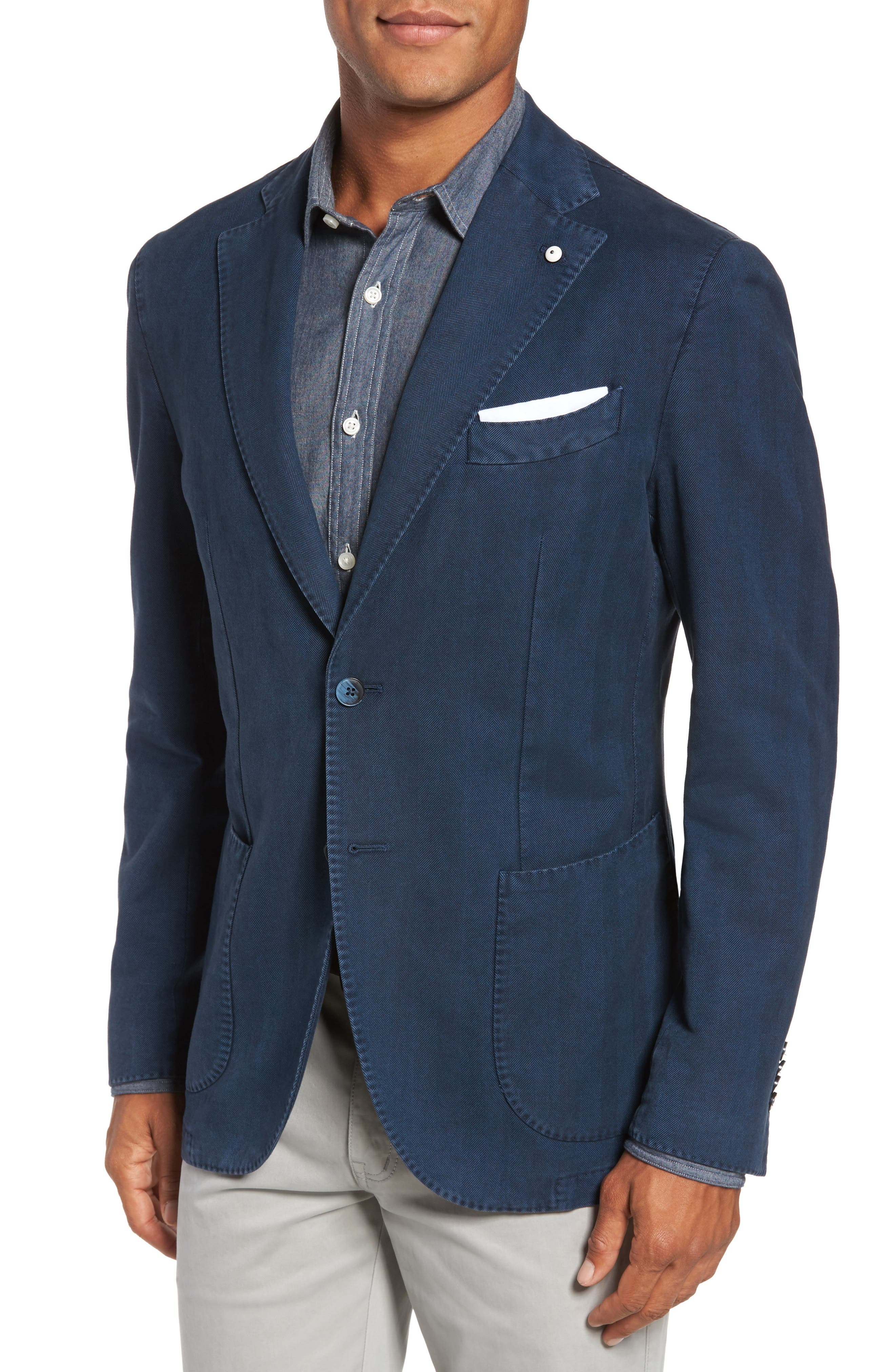 L.B.M 1911 Classic Fit Cotton Blazer