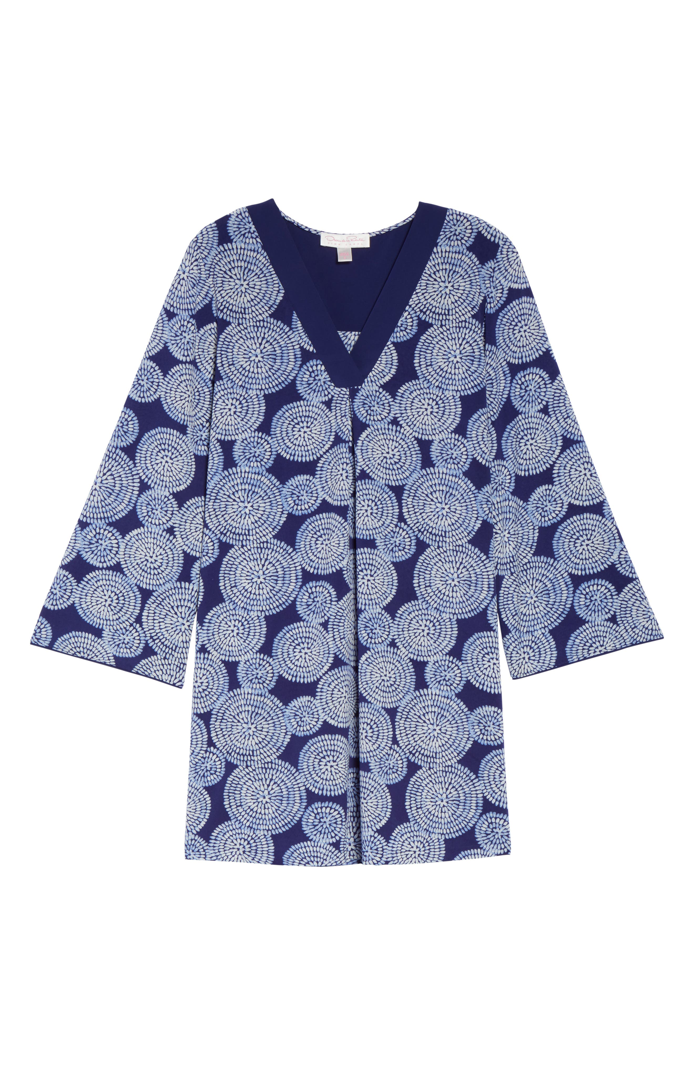 Sleepwear Halftan Short Nightgown,                             Alternate thumbnail 4, color,                             Eclipse Print