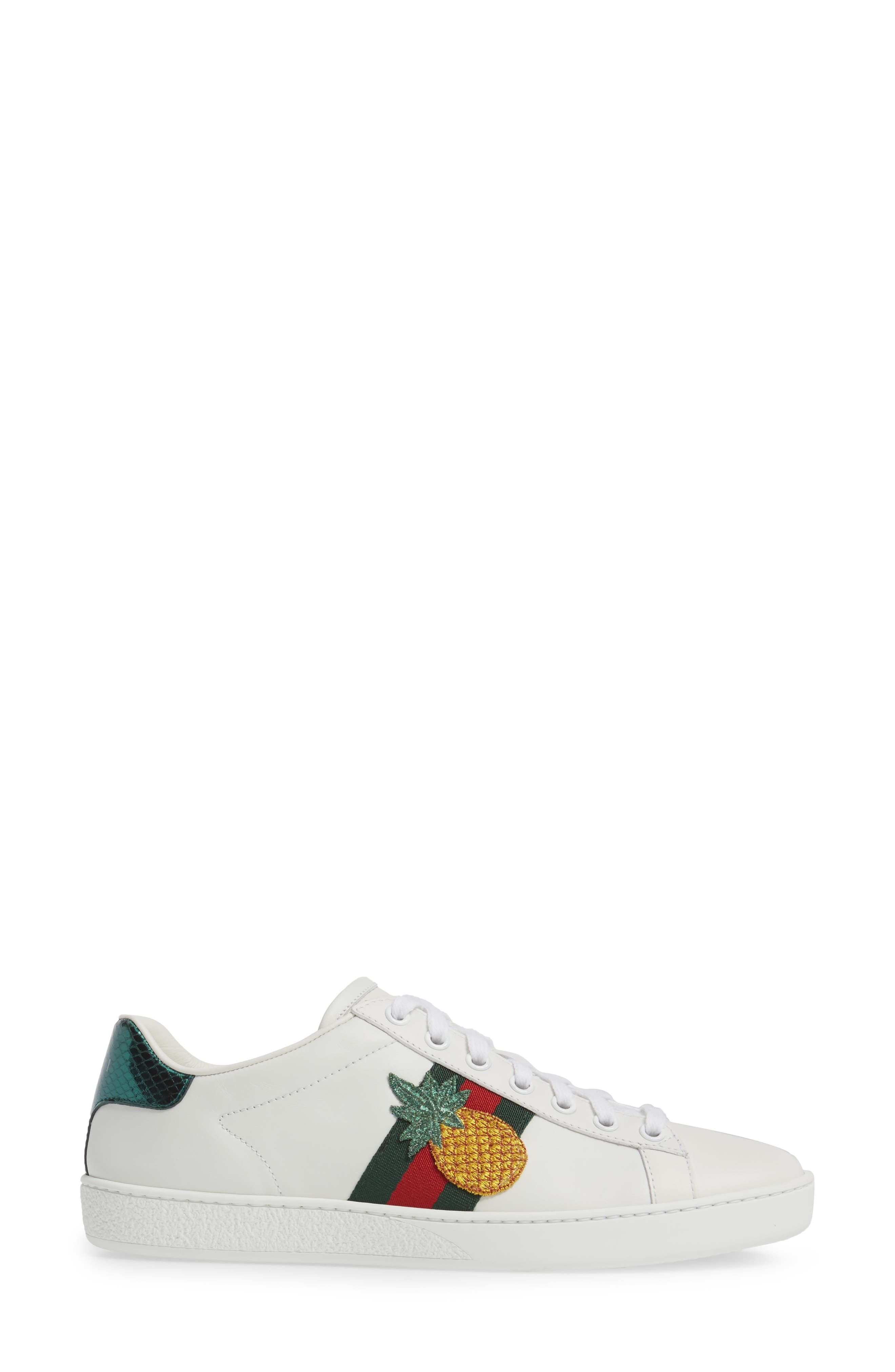 Alternate Image 3  - Gucci New Ace Pineapple Sneaker (Women)