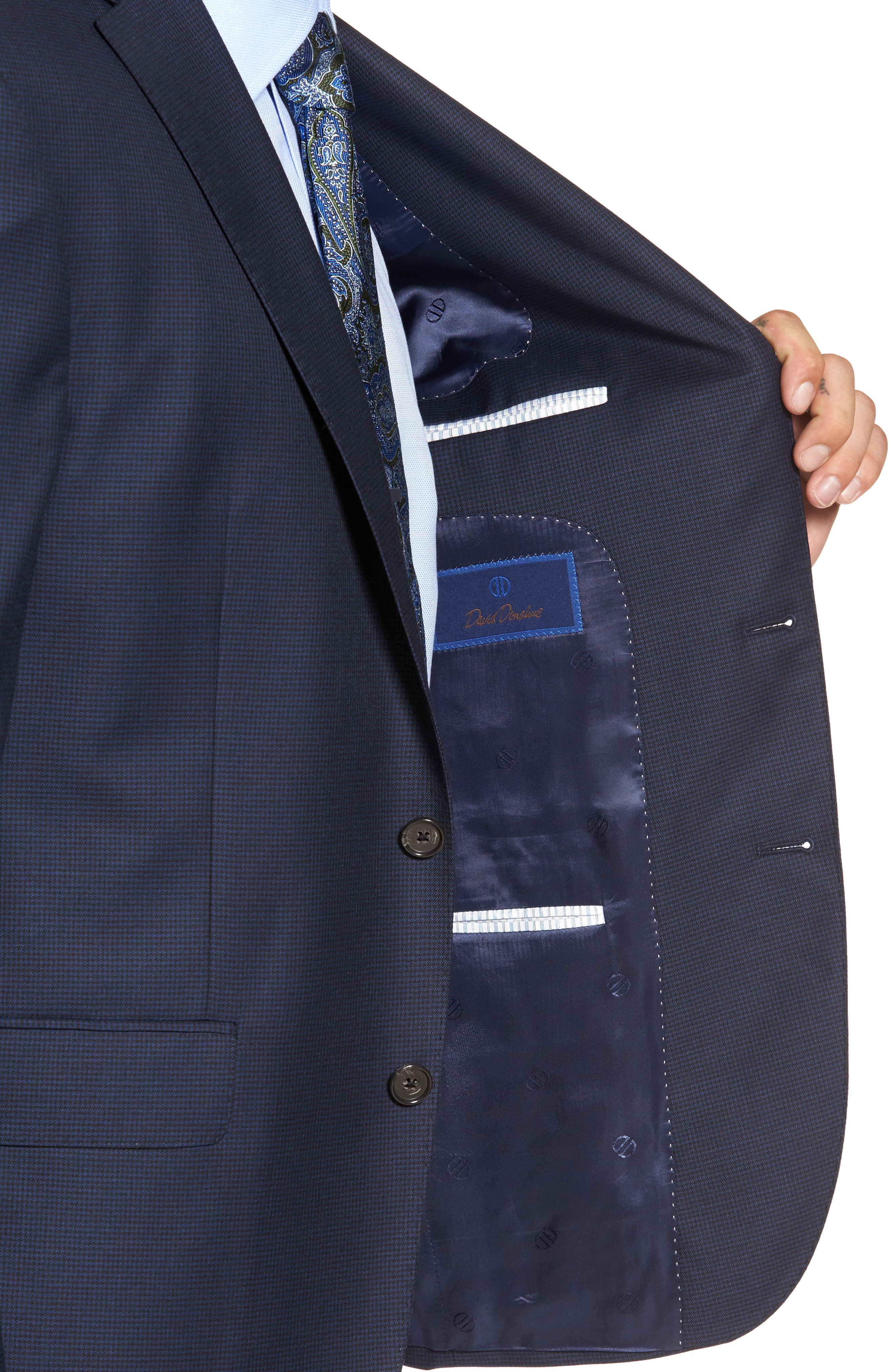 Ryan Classic Fit Wool Suit,                             Alternate thumbnail 4, color,                             Navy