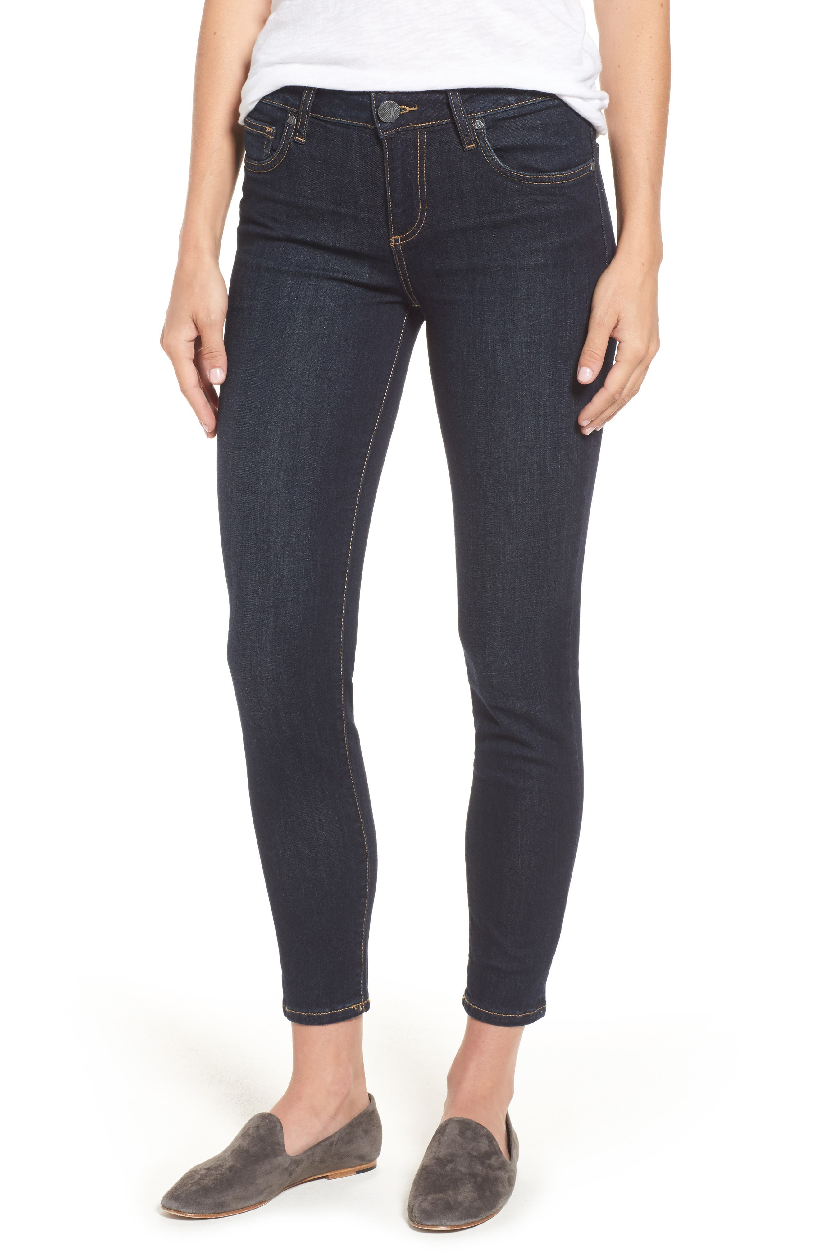 KUT from the Kloth Diana Kurvy Stretch Ankle Jeans (Limitless)
