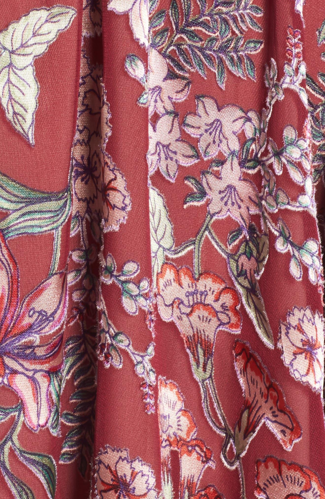 Flora Minidress,                             Alternate thumbnail 5, color,                             Berry Floral