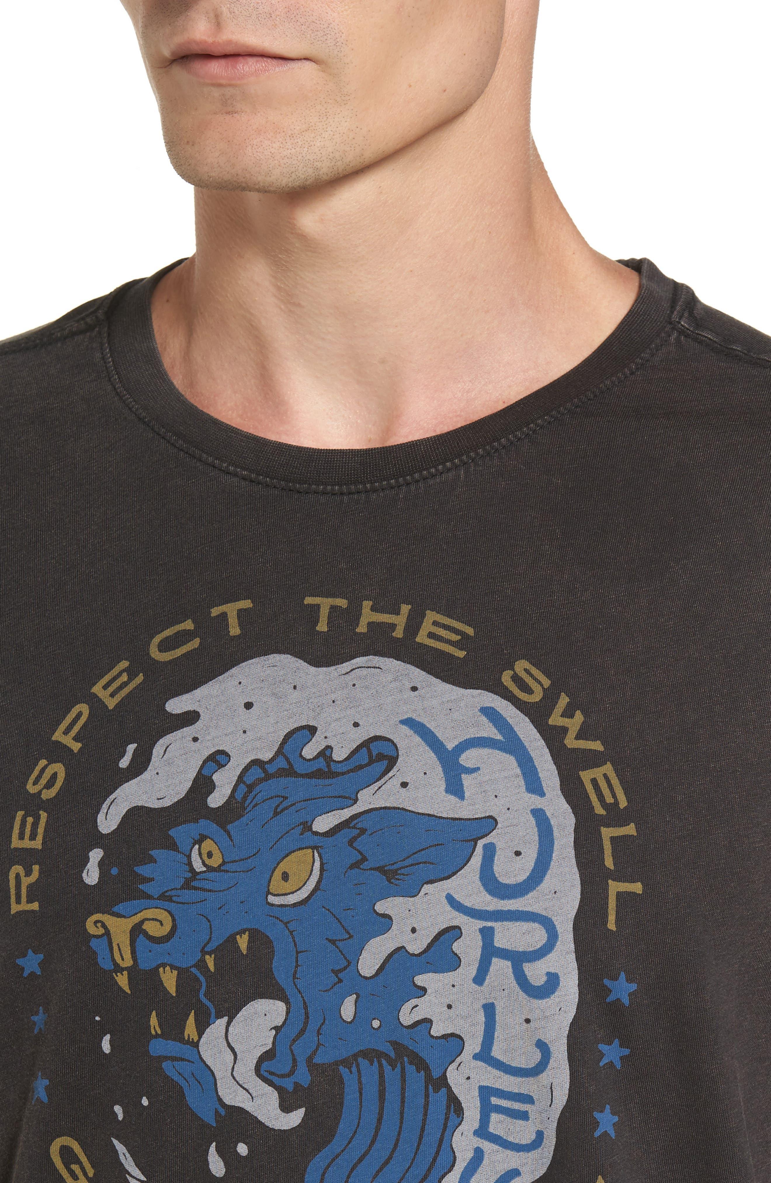 Respect the Swell T-Shirt,                             Alternate thumbnail 4, color,                             Black