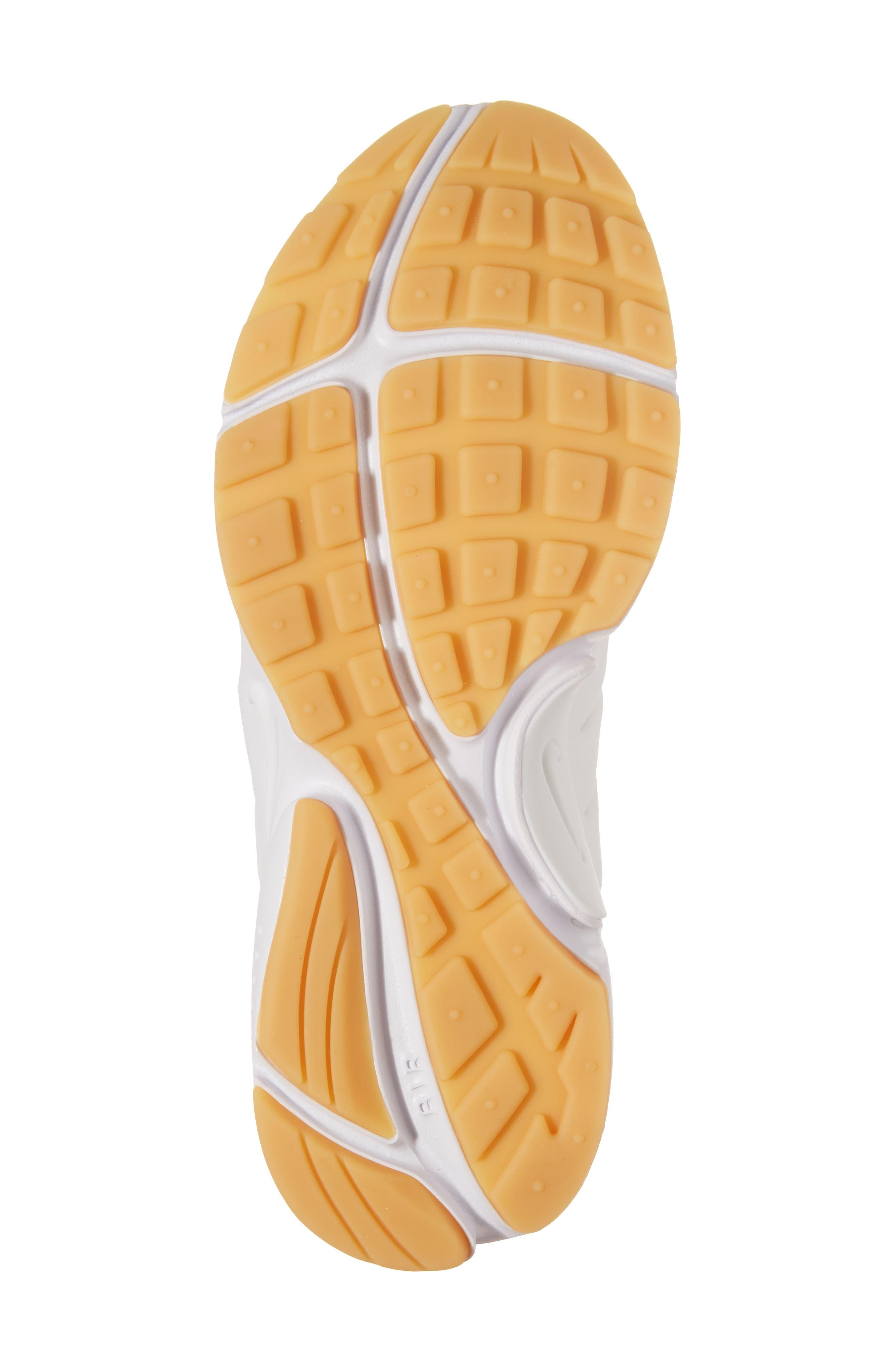 Air Presto Flyknit Ultra Sneaker,                             Alternate thumbnail 6, color,                             White/ Gum Yellow/ Wolf Grey