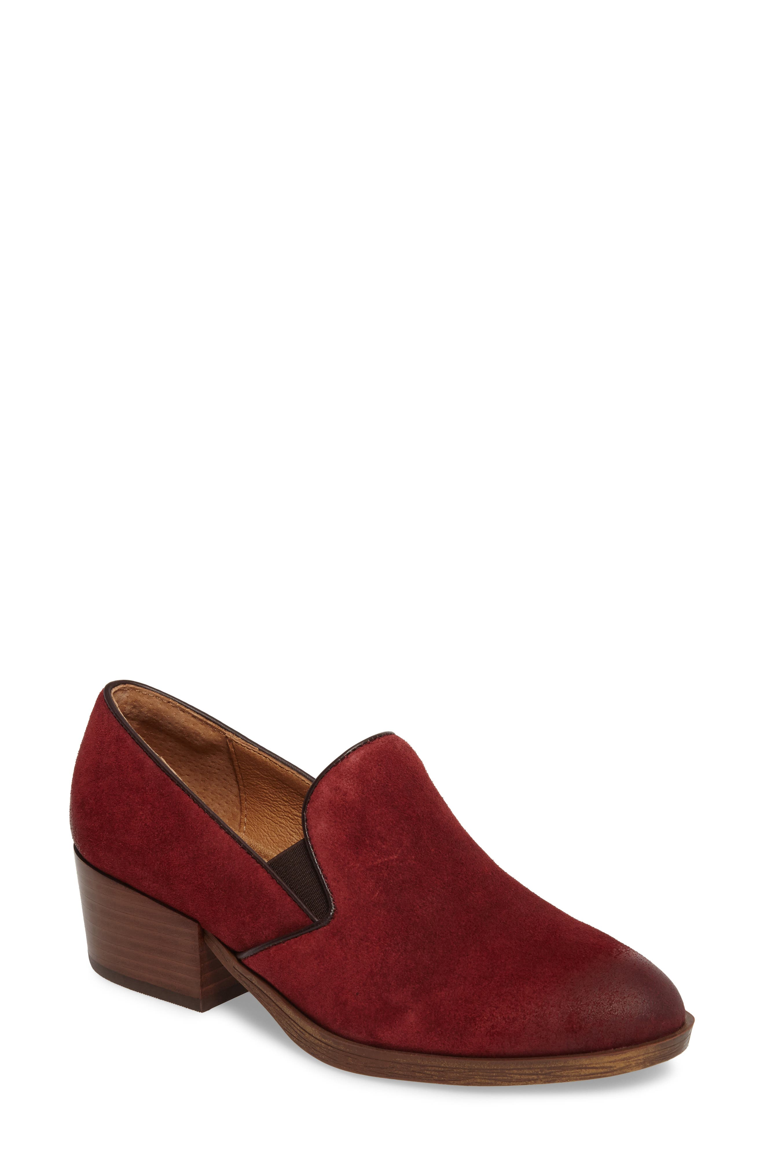 Velina Pump,                         Main,                         color, Bordo Suede