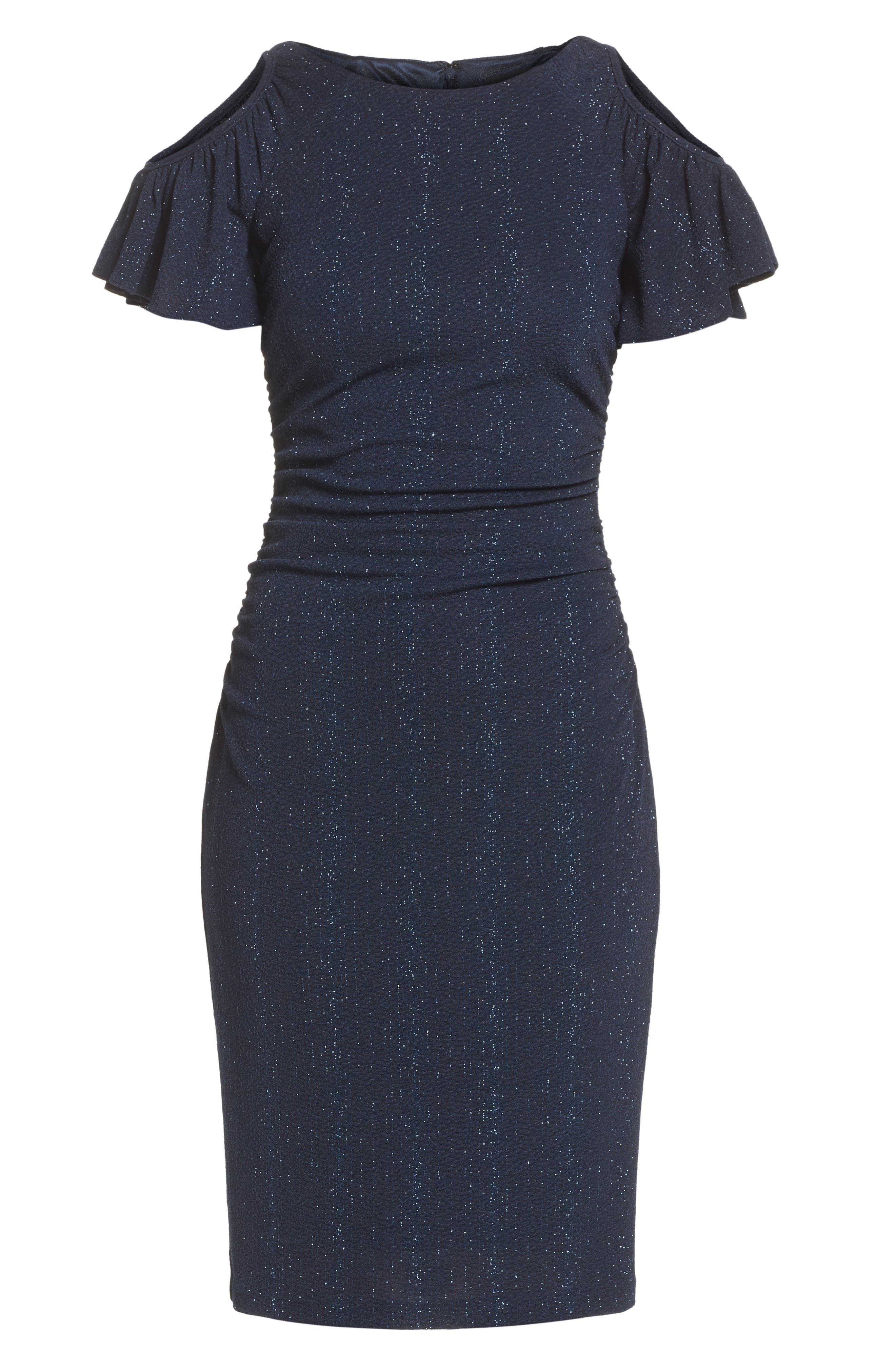 Alternate Image 6  - Adrianna Papell Cold Shoulder Sheath Dress