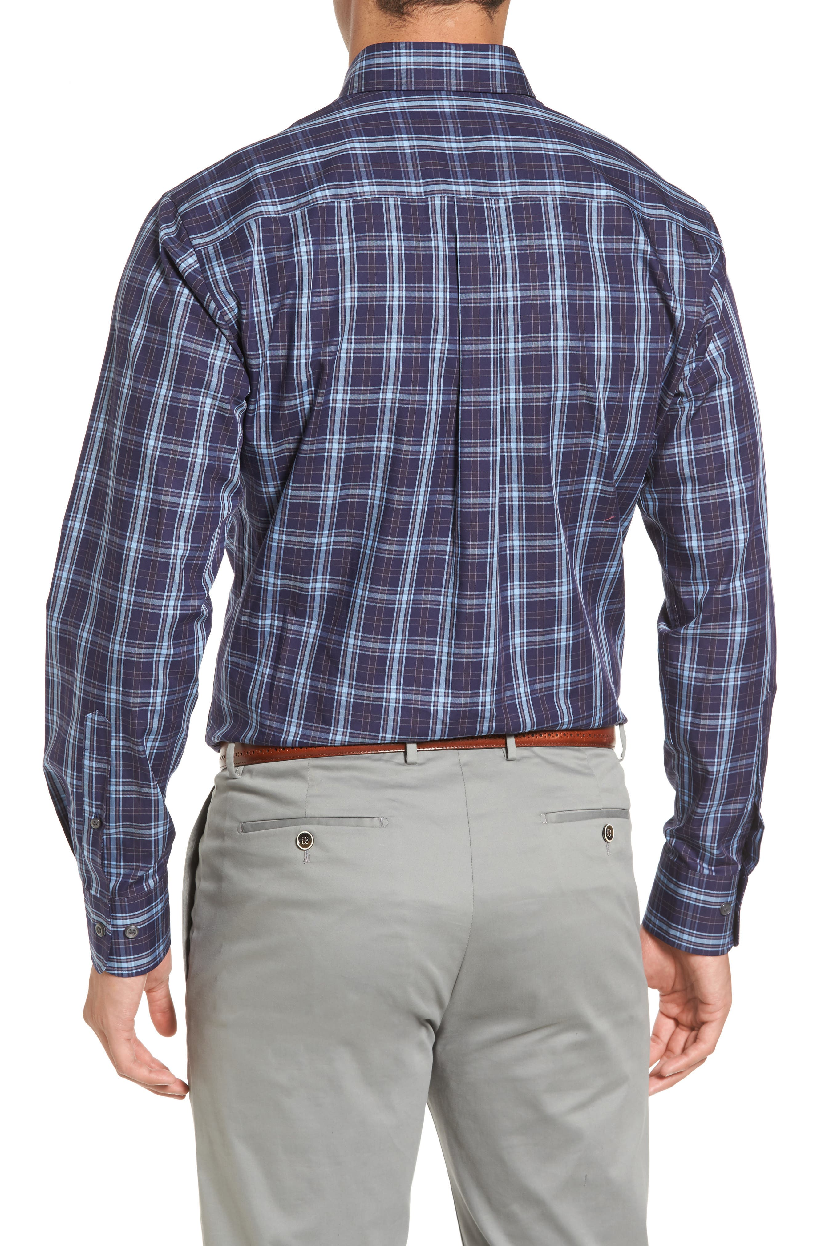 Alternate Image 2  - Peter Millar Regular Fit Blackfoot Plaid Sport Shirt
