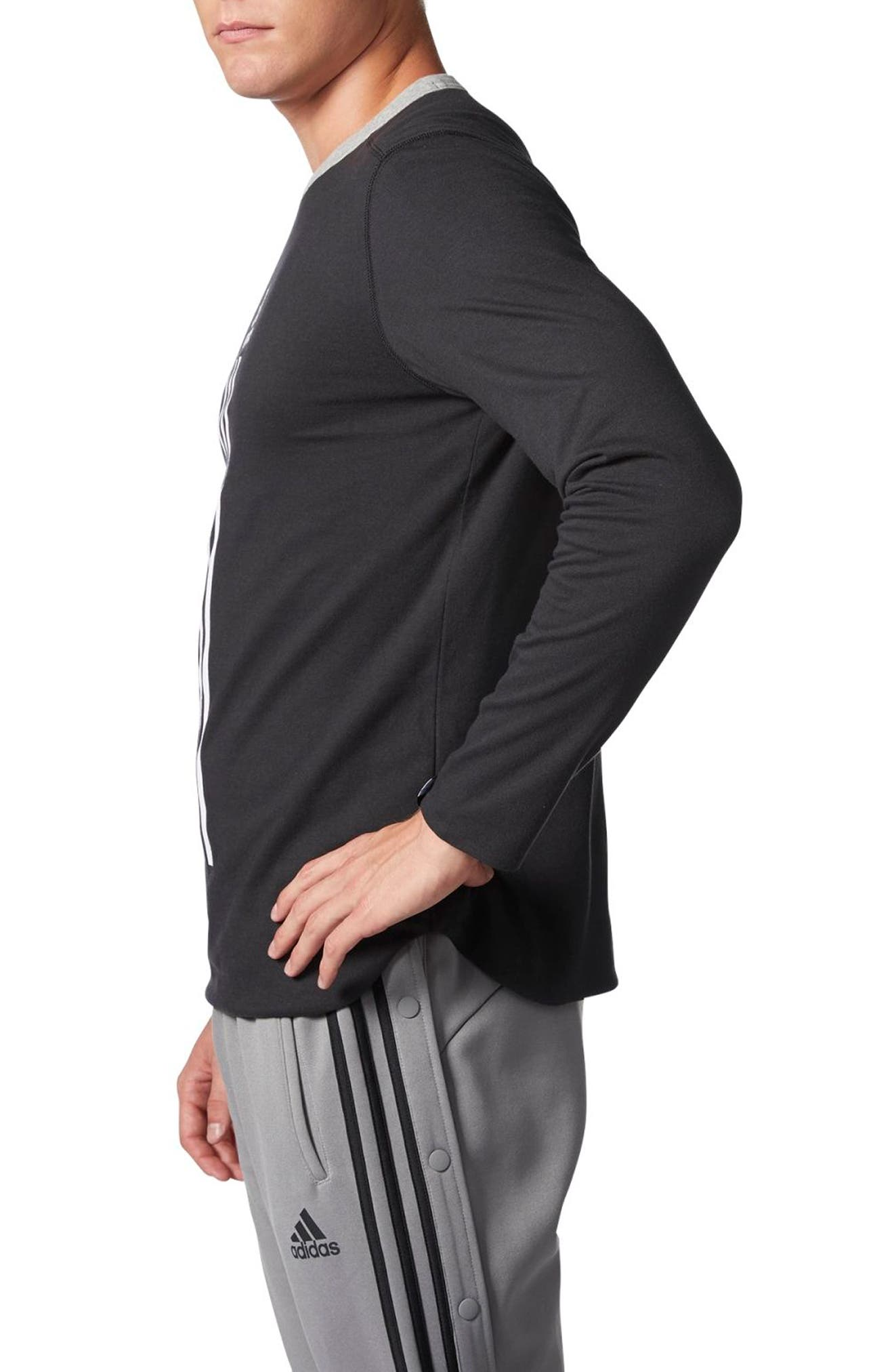 ID Long Sleeve Performance T-Shirt,                             Alternate thumbnail 2, color,                             Black/ Medium Grey Heather
