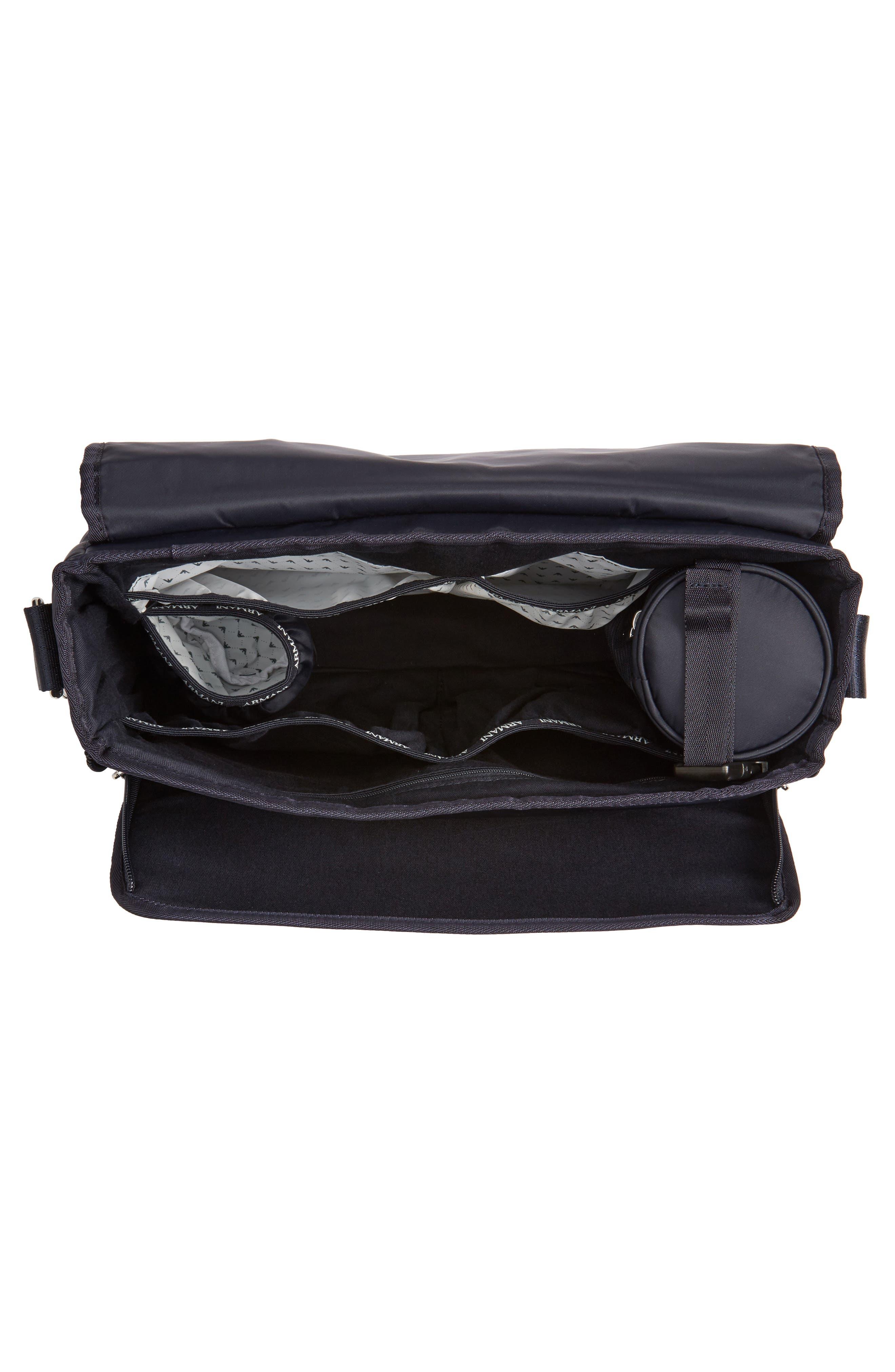 Alternate Image 4  - Armani Junior Nylon Messenger Diaper Bag