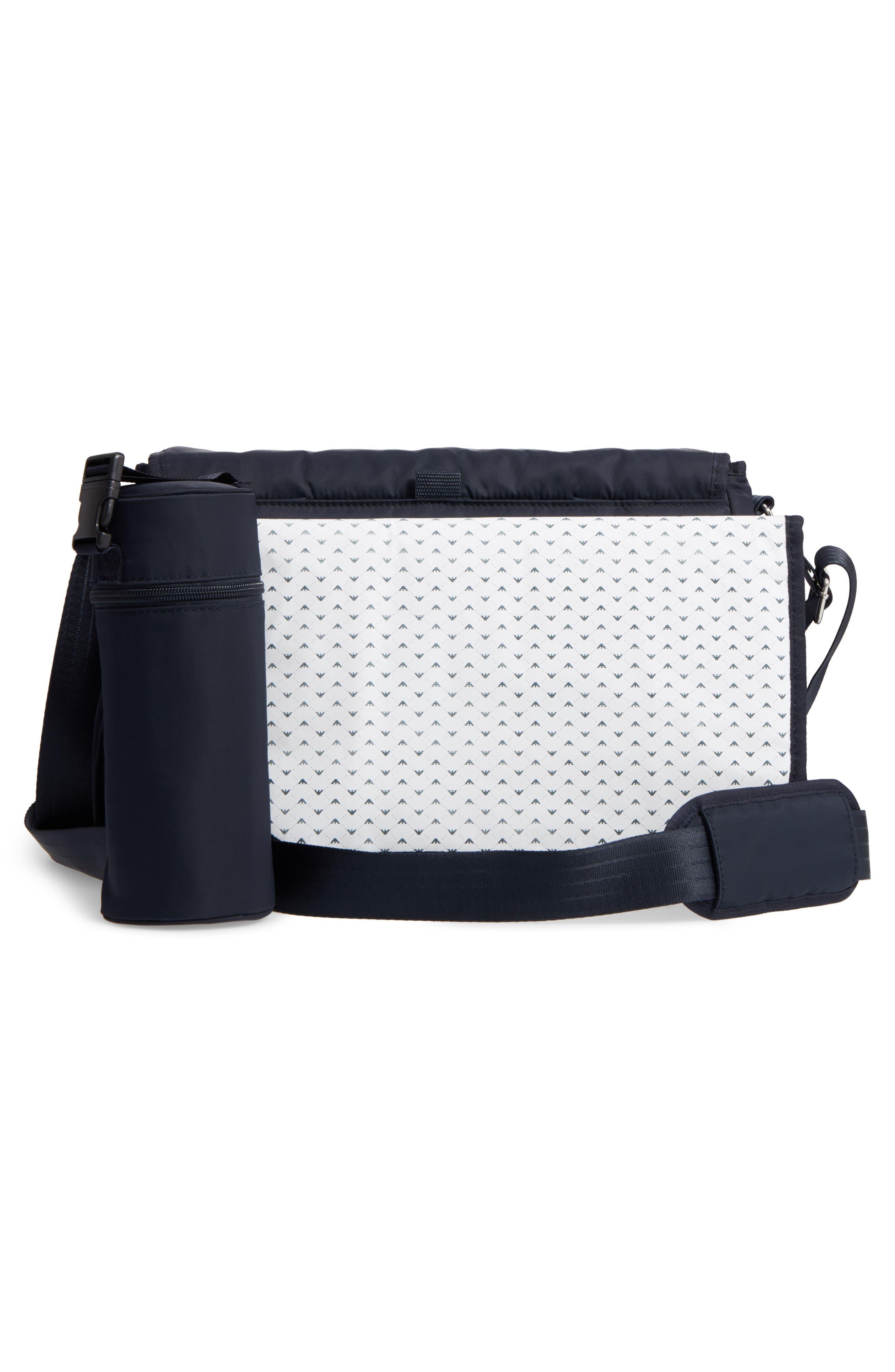 Alternate Image 3  - Armani Junior Nylon Messenger Diaper Bag