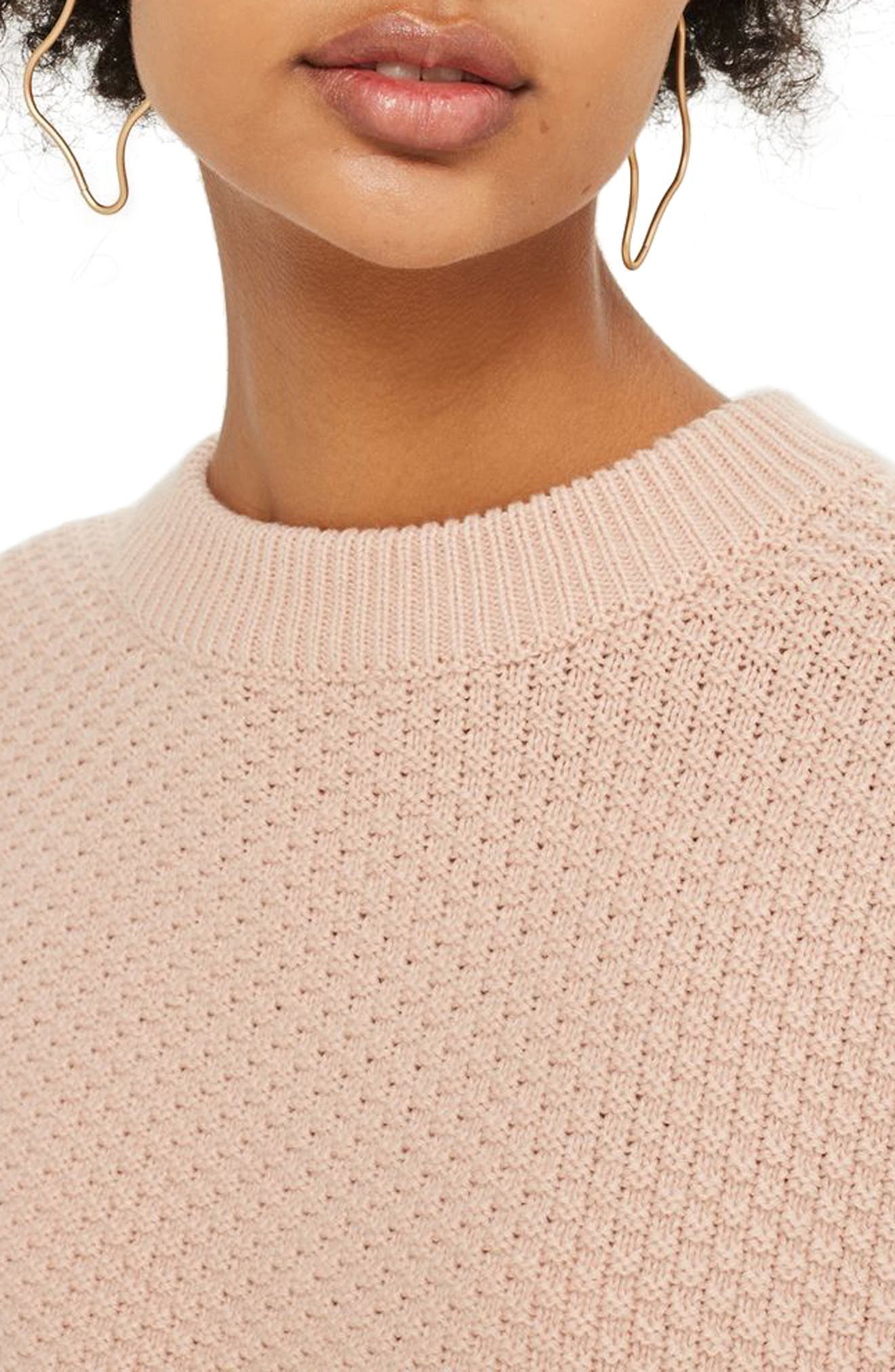 Wide Sleeve Sweater,                             Alternate thumbnail 4, color,                             Nude