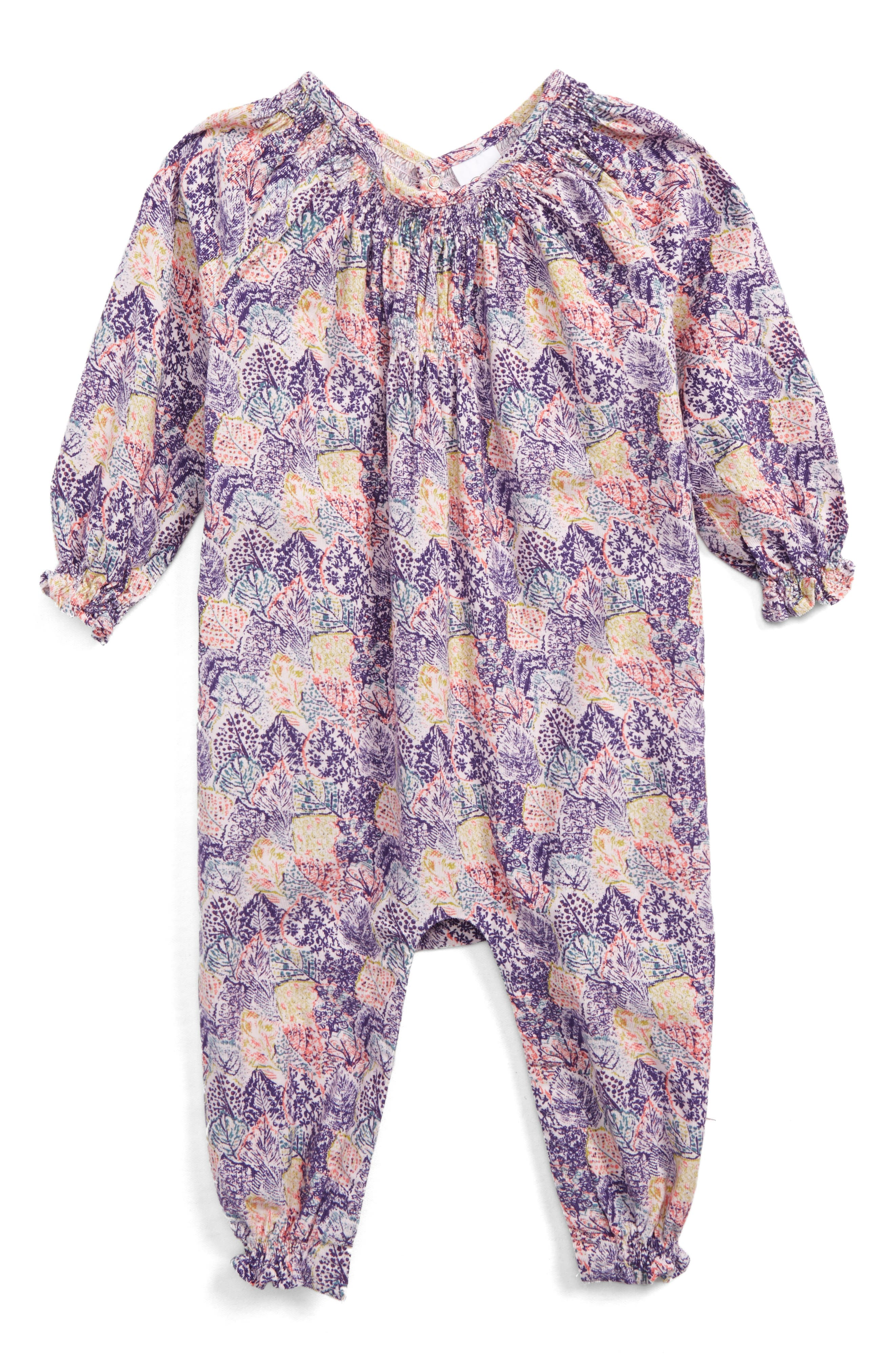 Main Image - egg by susan lazar Marzia Romper (Baby Girls)