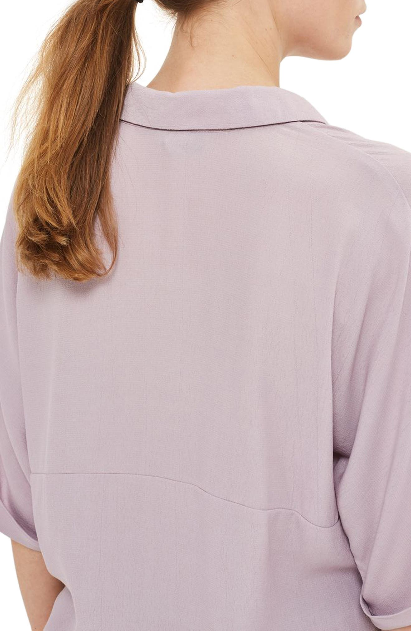Kady Roll Sleeve Maternity Top,                             Alternate thumbnail 3, color,                             Lilac