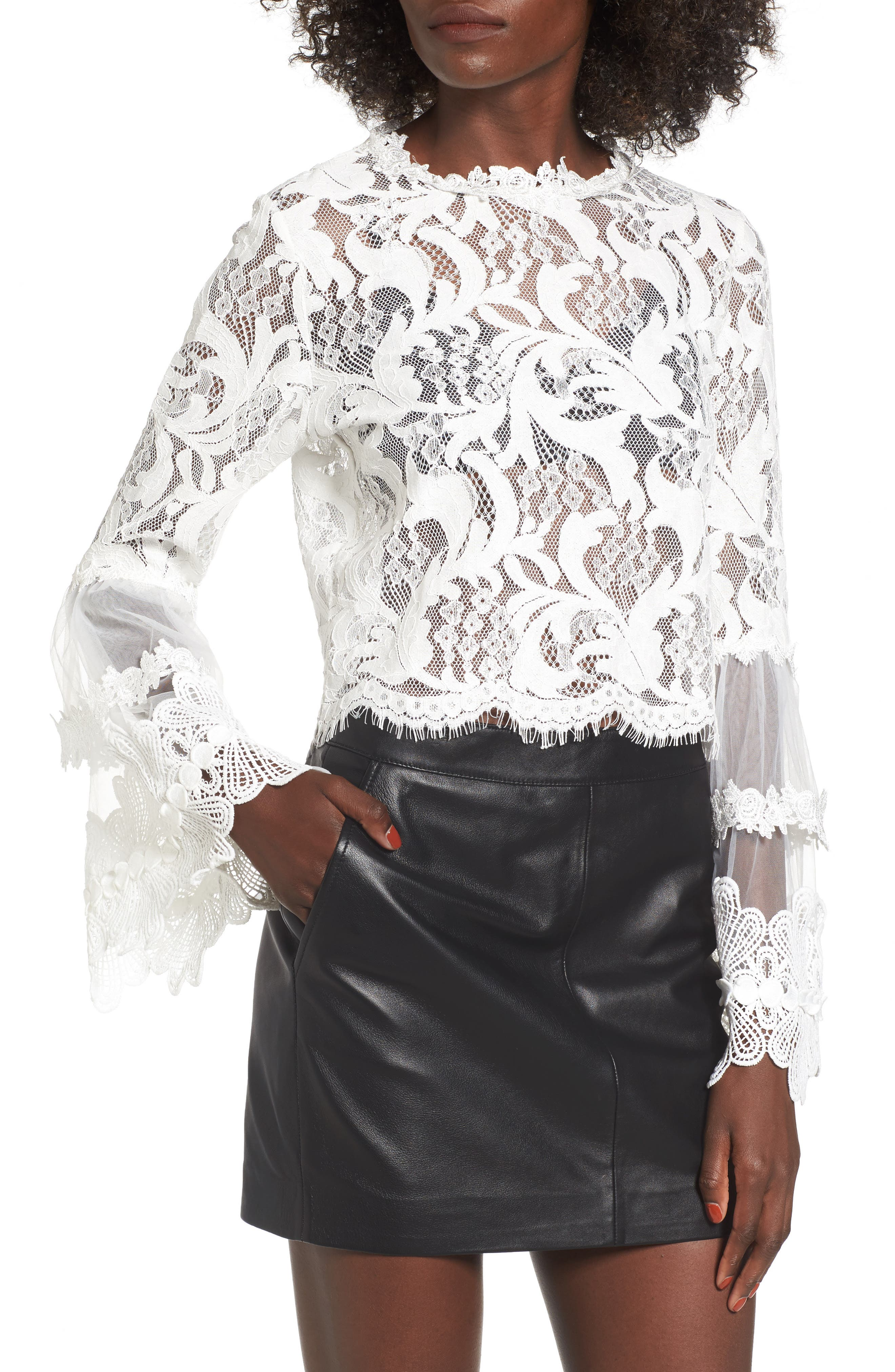 Chancellor Lace Top,                         Main,                         color, White
