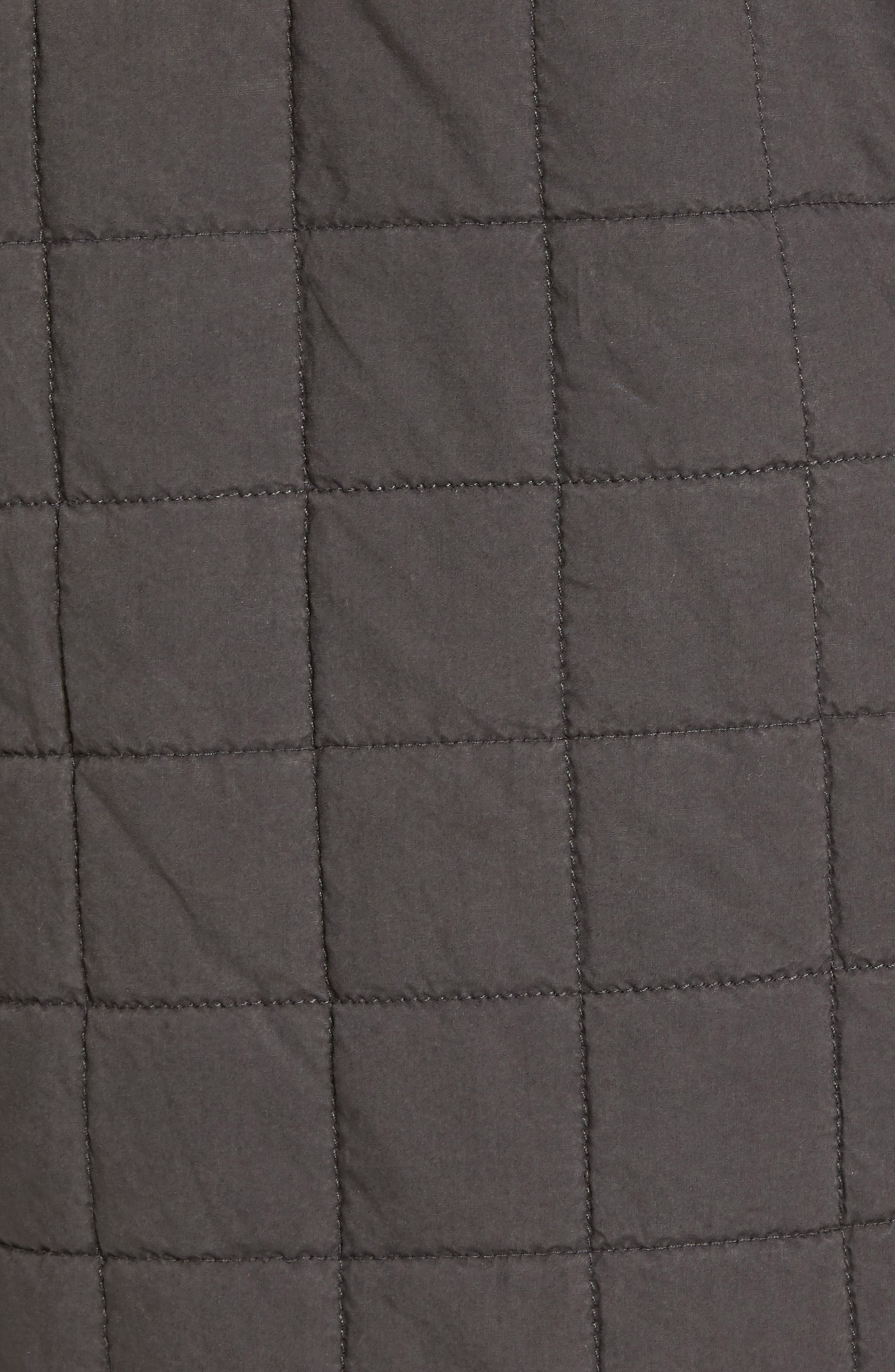 Quilted Shirt Jacket,                             Alternate thumbnail 5, color,                             Off Black