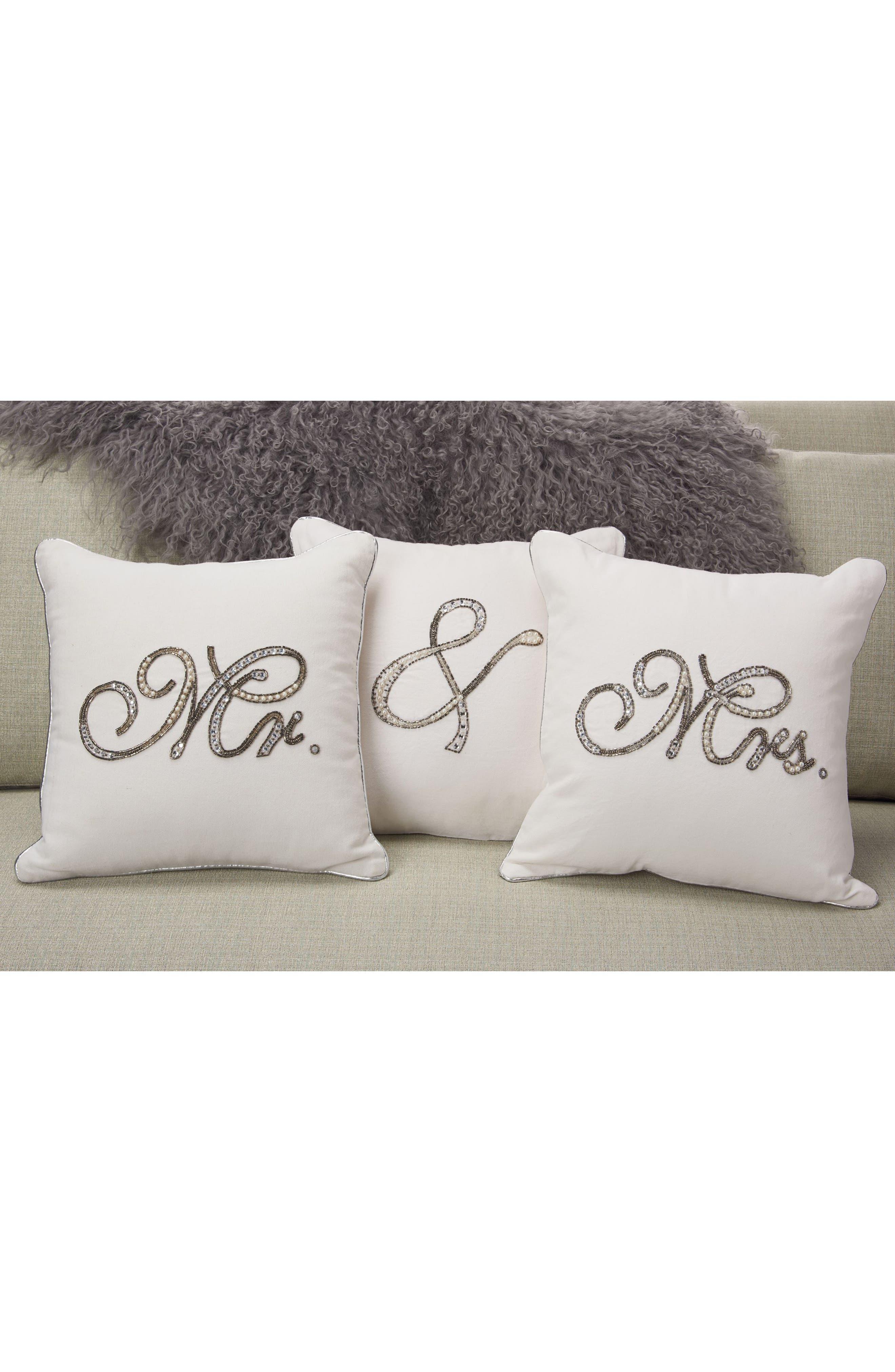 Alternate Image 2  - Mina Victory Embellished Wedding Pillow