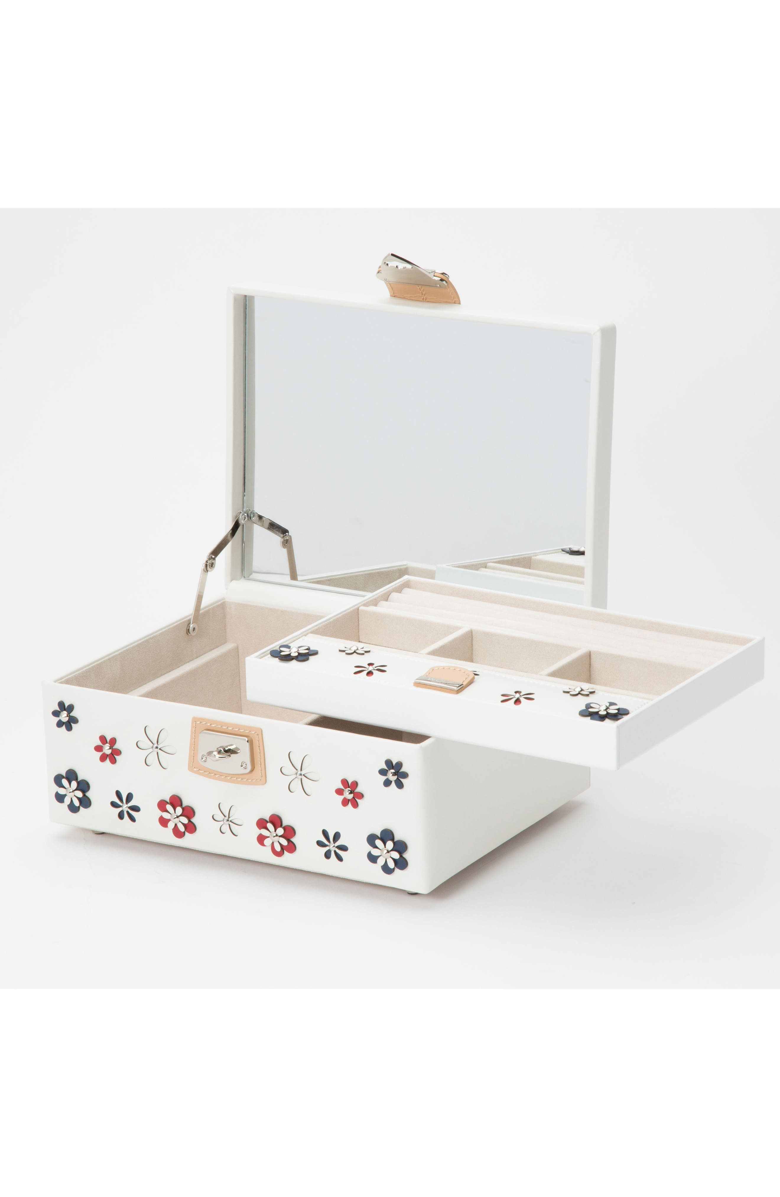 Alternate Image 2  - Wolf Medium Blossom Jewelry Box