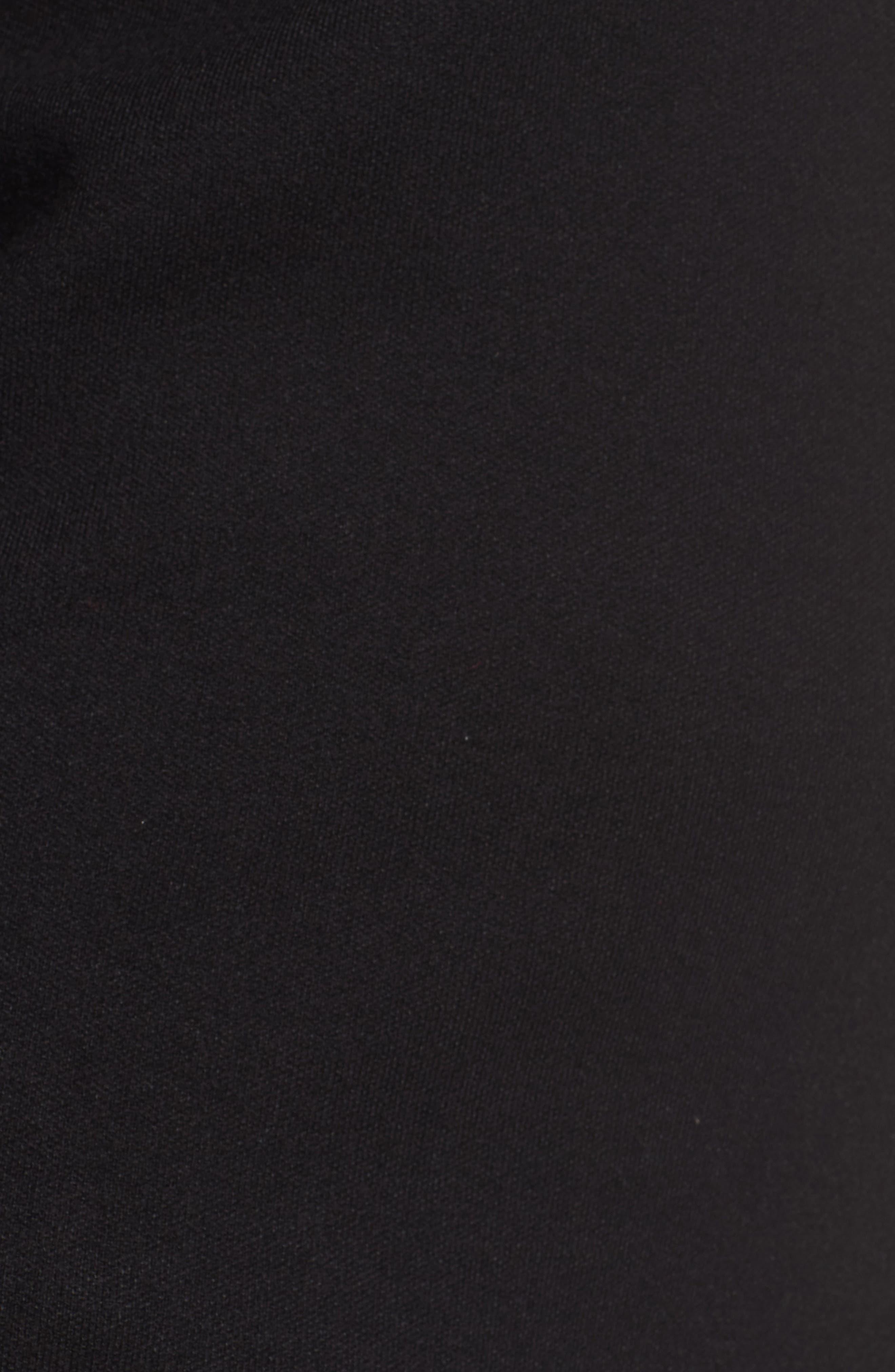 Ruffle Sleeve Sweater Dress,                             Alternate thumbnail 5, color,                             Black