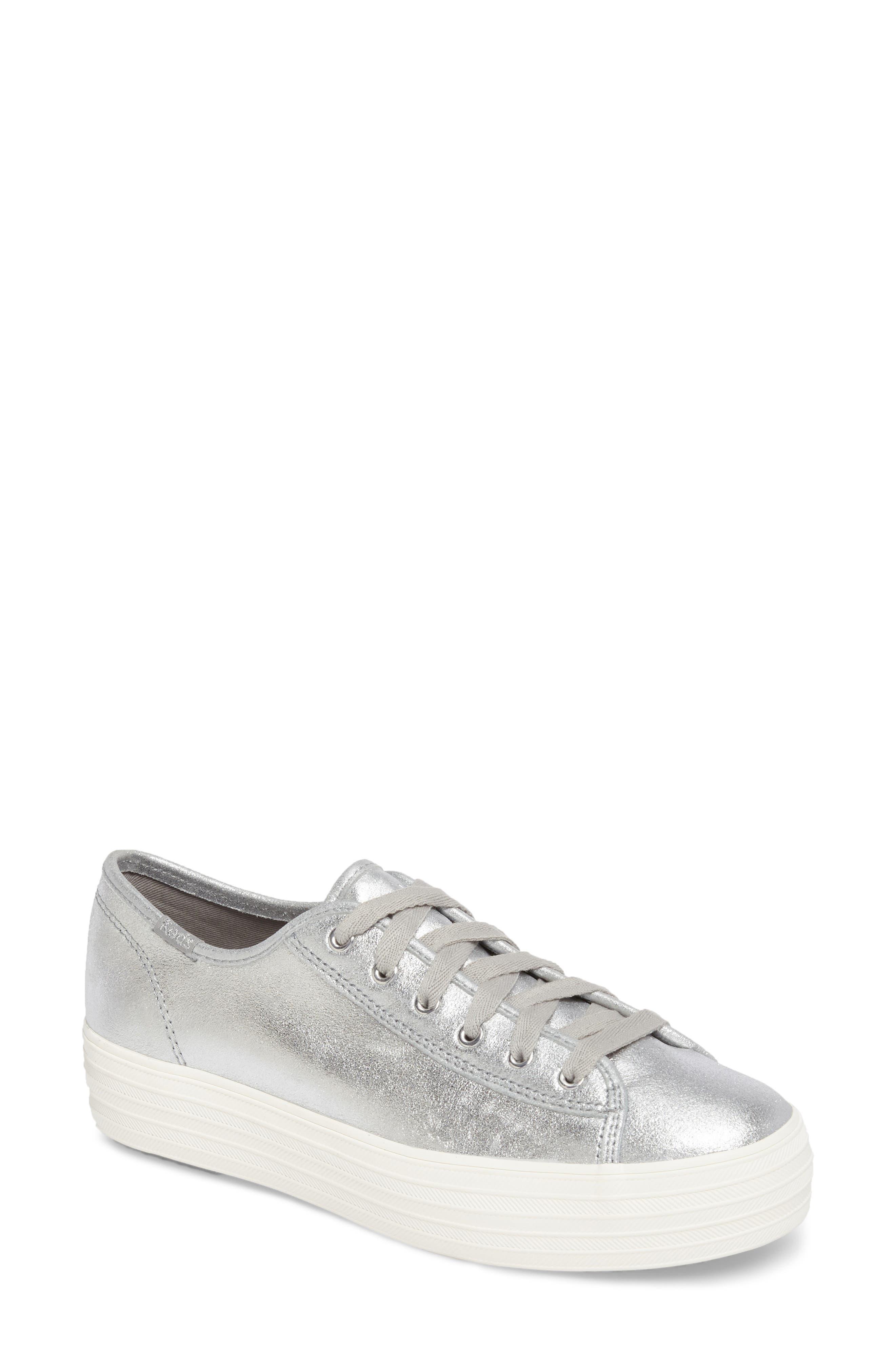 Triple Kick Platform Sneaker,                             Main thumbnail 1, color,                             Silver
