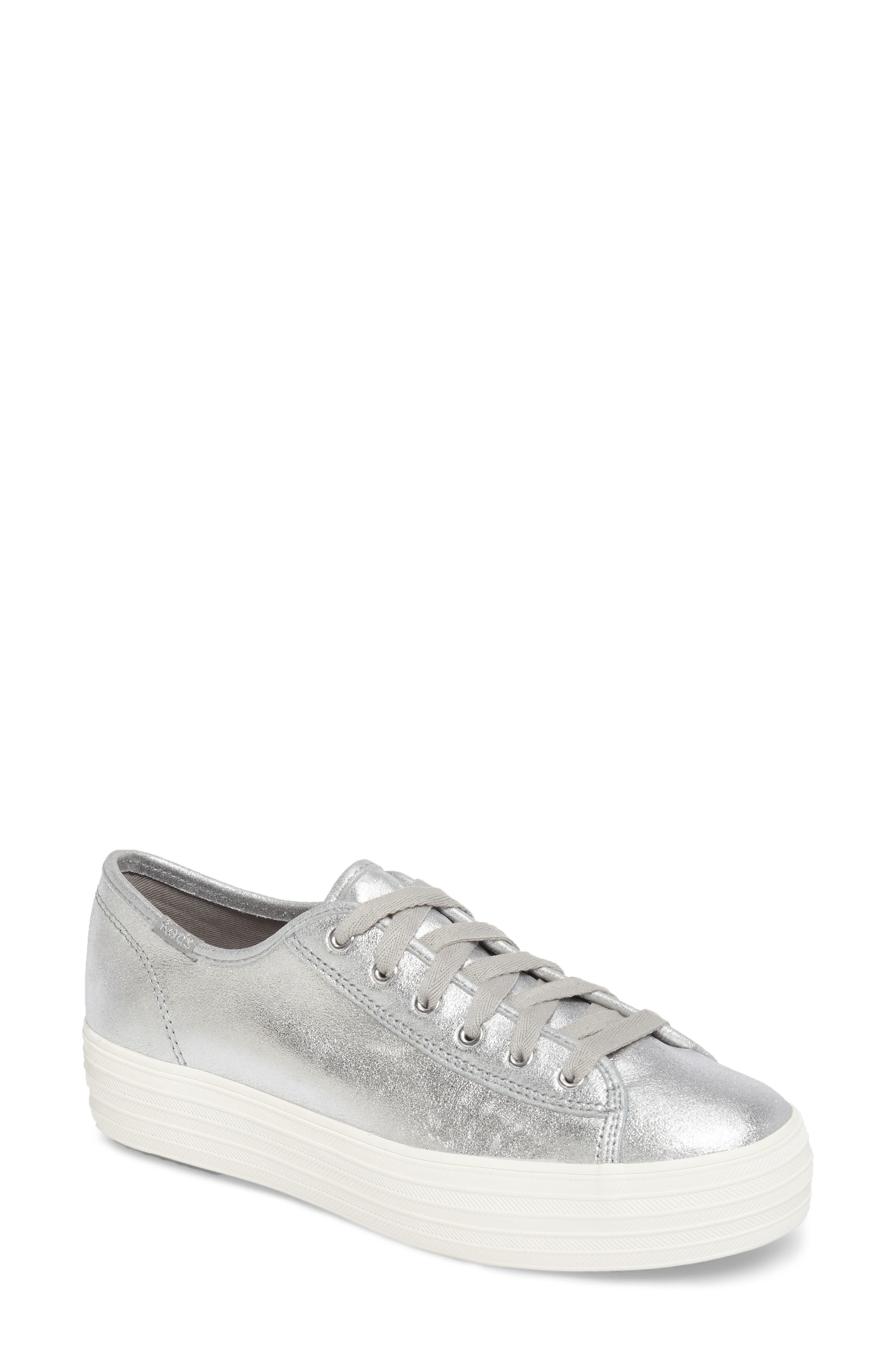 Triple Kick Platform Sneaker,                         Main,                         color, Silver
