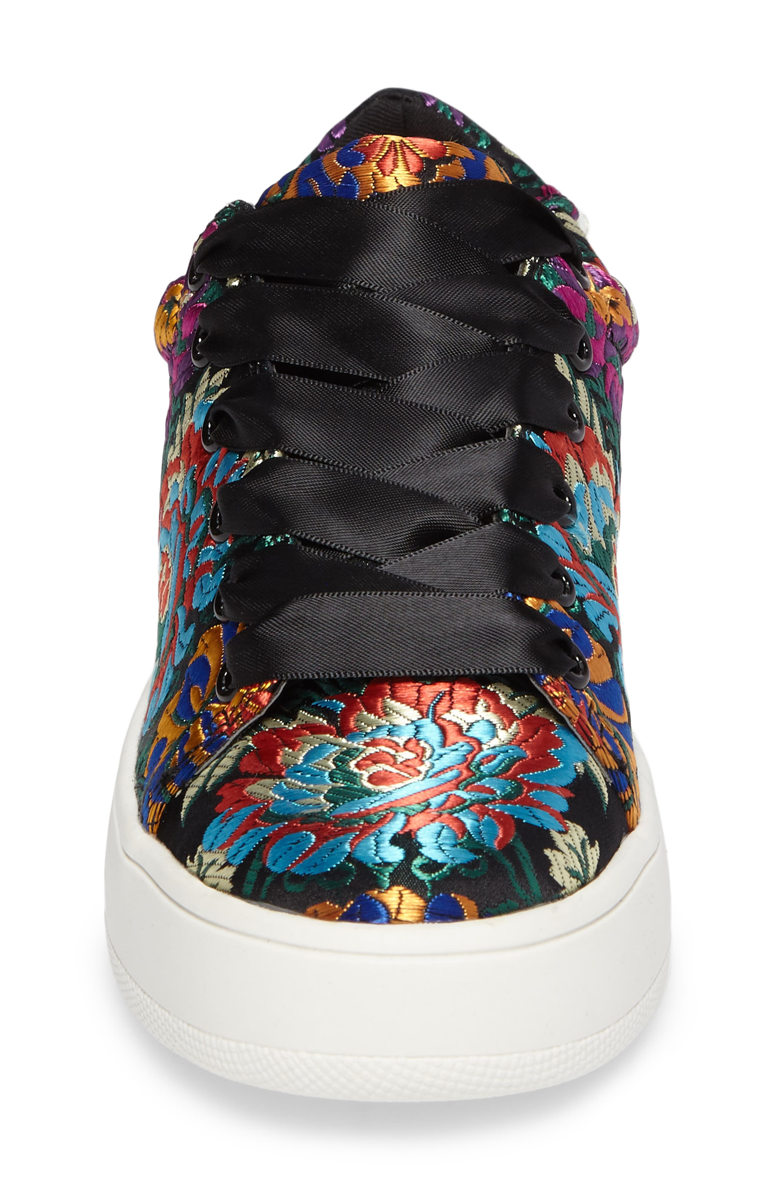 Brody Embroidered Flower Sneaker,                             Alternate thumbnail 4, color,                             Multi