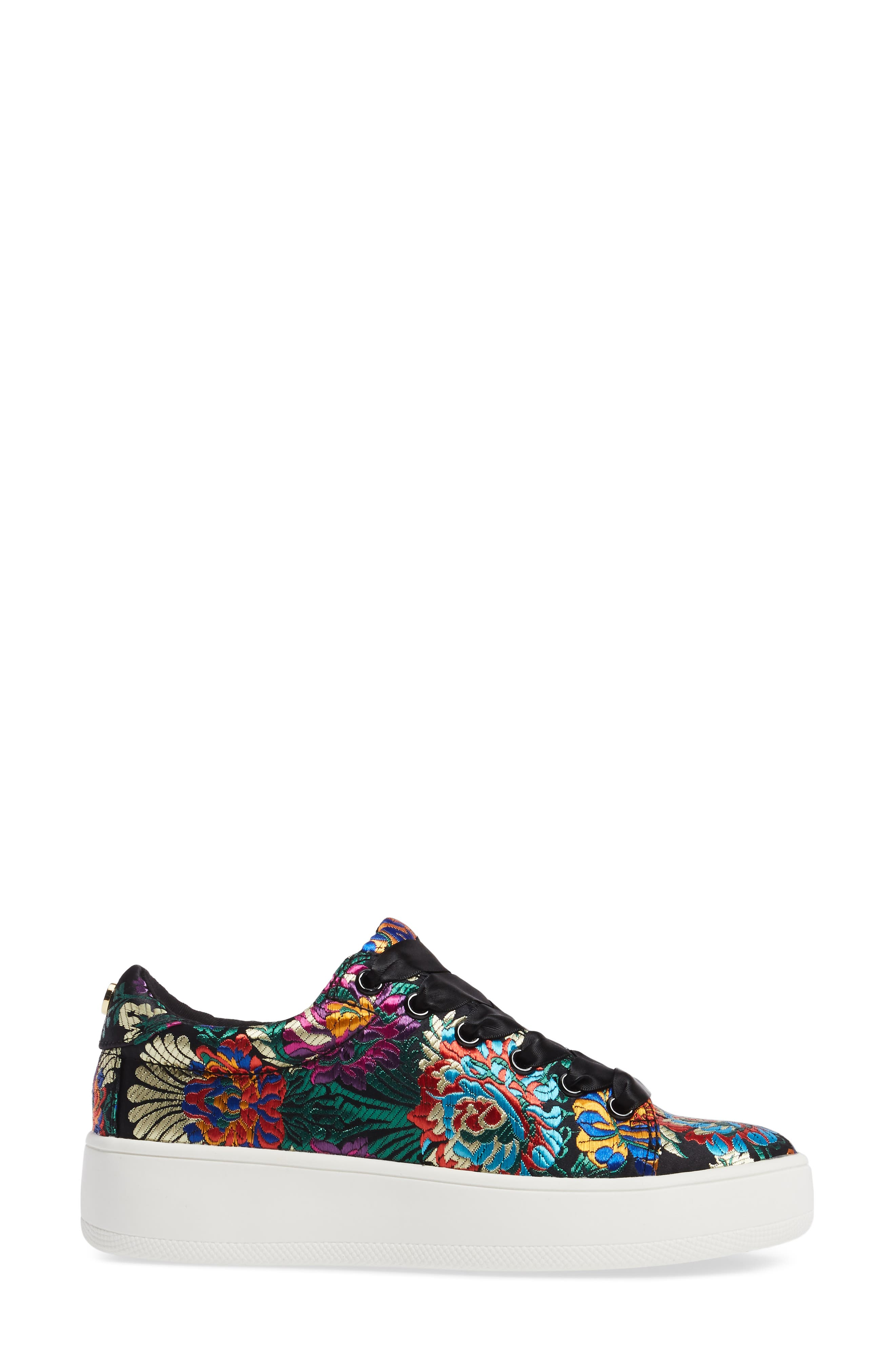 Brody Embroidered Flower Sneaker,                             Alternate thumbnail 3, color,                             Multi