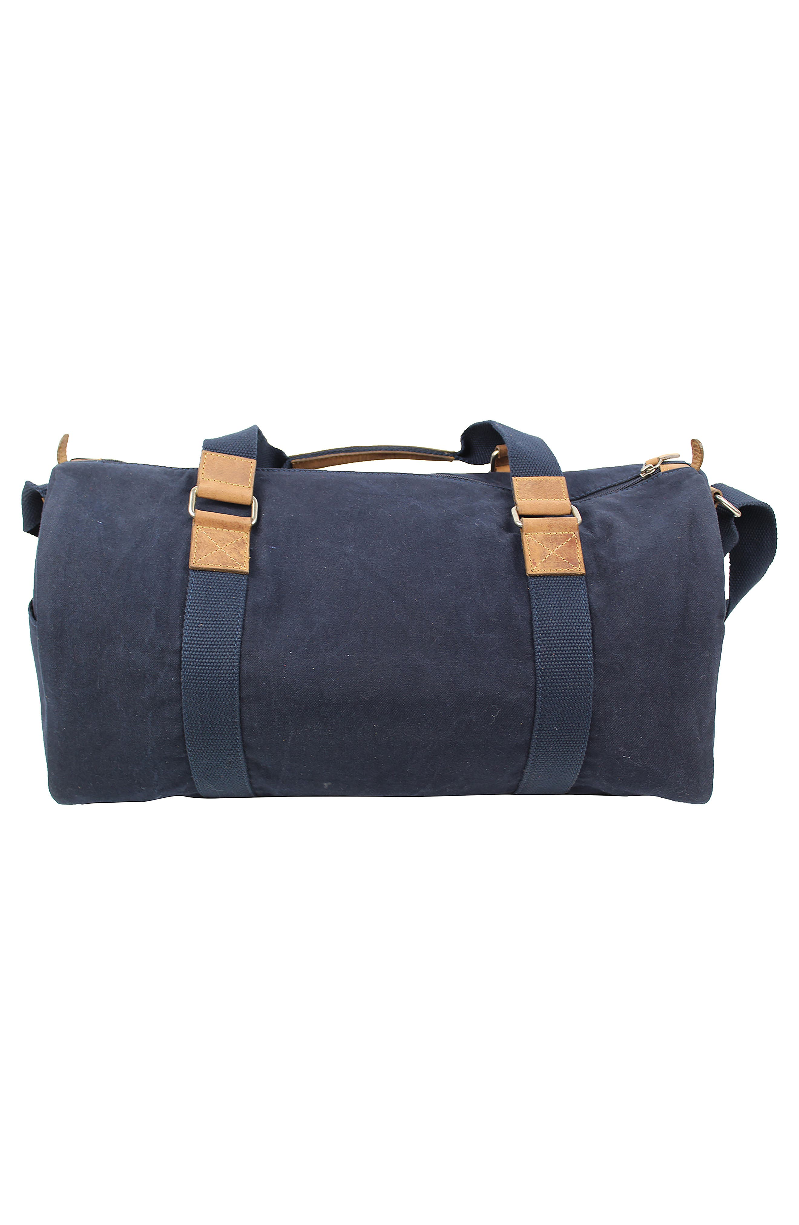 Canvas Duffel Bag,                             Alternate thumbnail 2, color,                             Navy