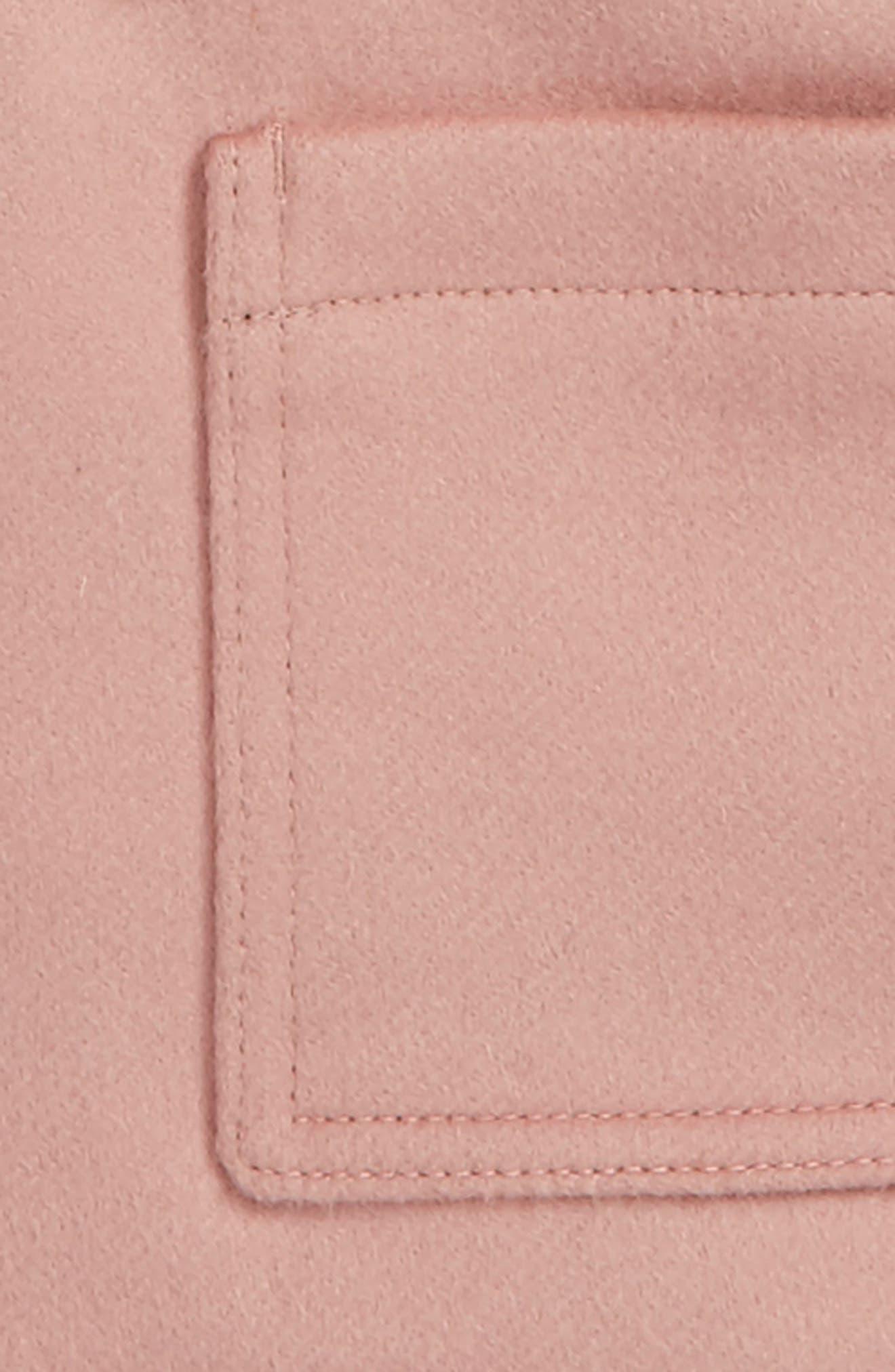 Alternate Image 2  - Burberry Brogan Hooded Wool Toggle Coat (Baby Girls & Toddler Girls)