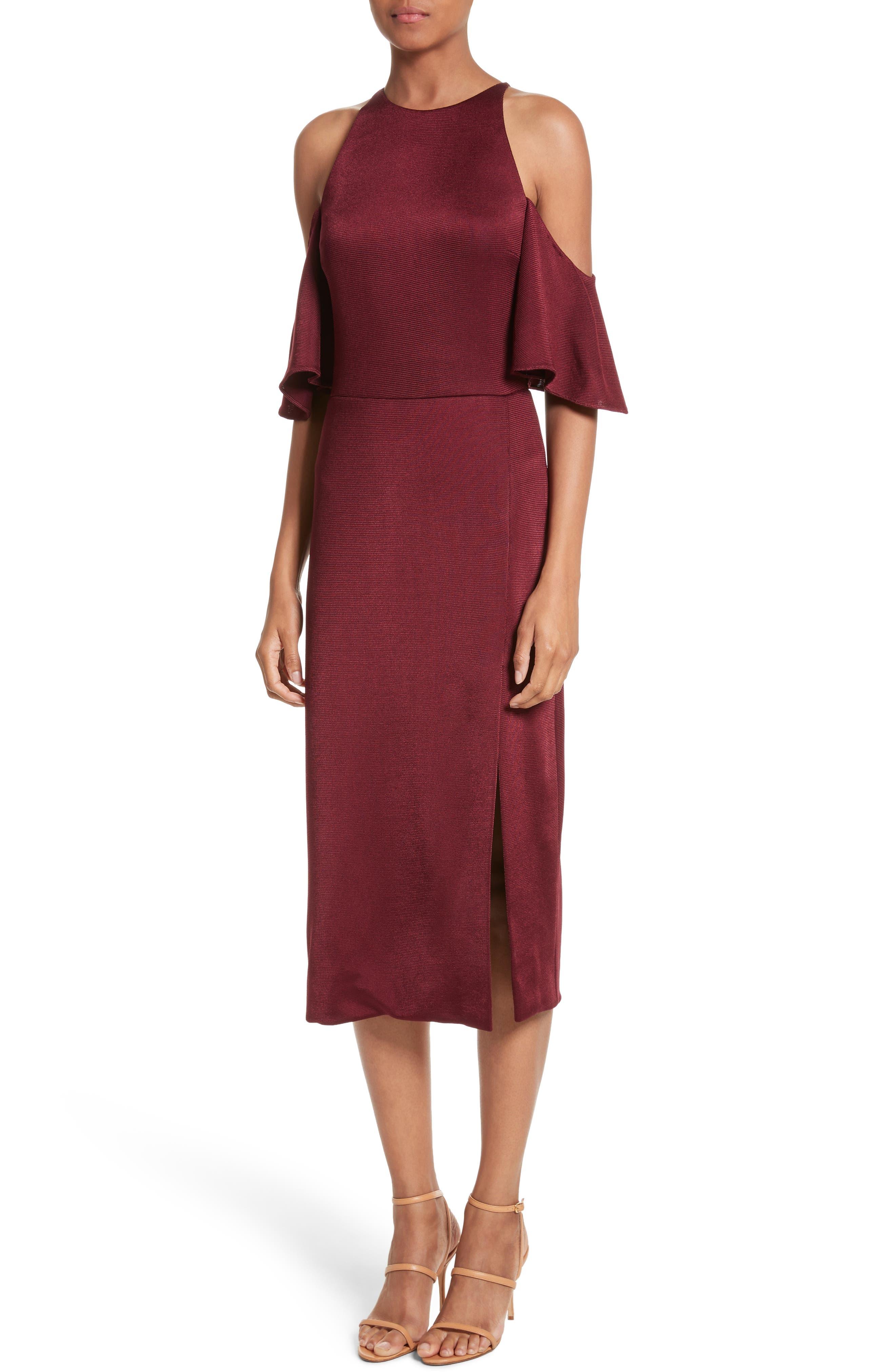 Alternate Image 5  - Cushnie et Ochs Flutter Sleeve Cold Shoulder Pencil Dress