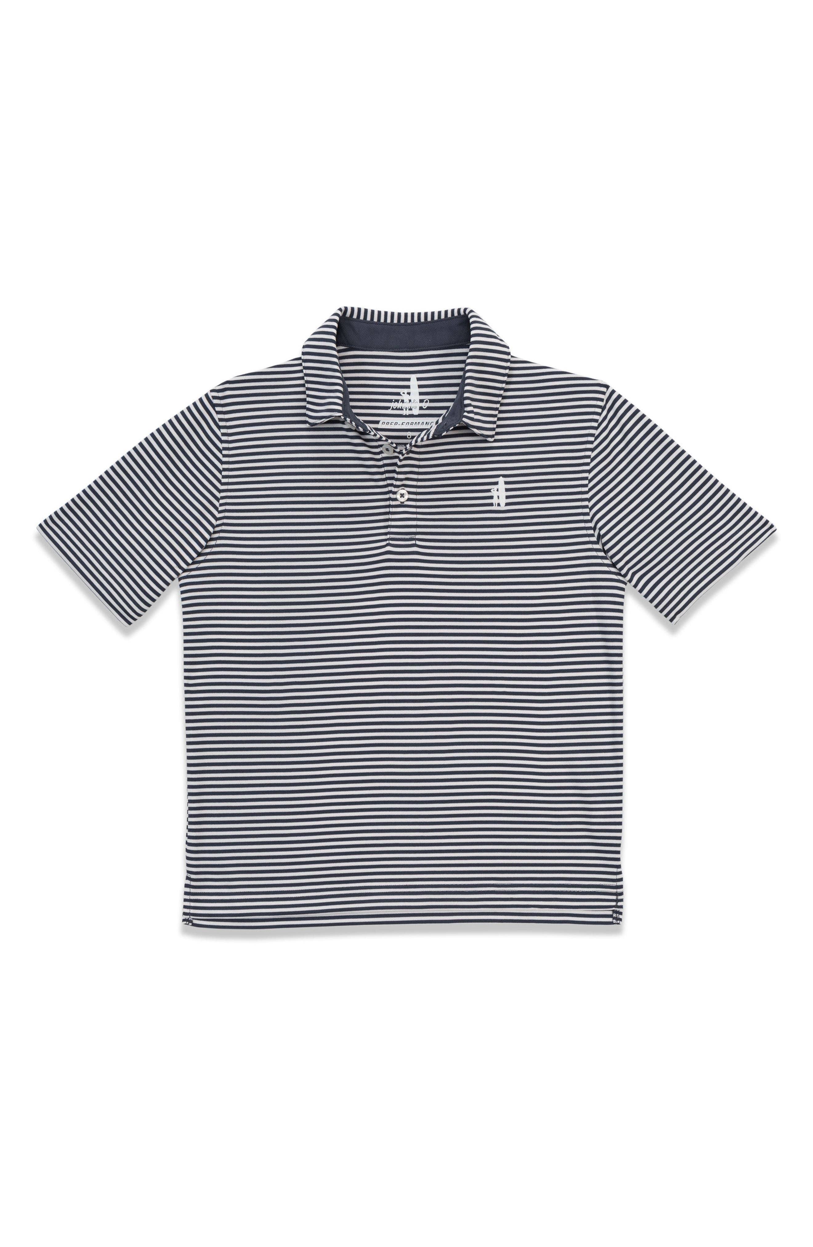 Bunker Striped Polo,                         Main,                         color, Midnight