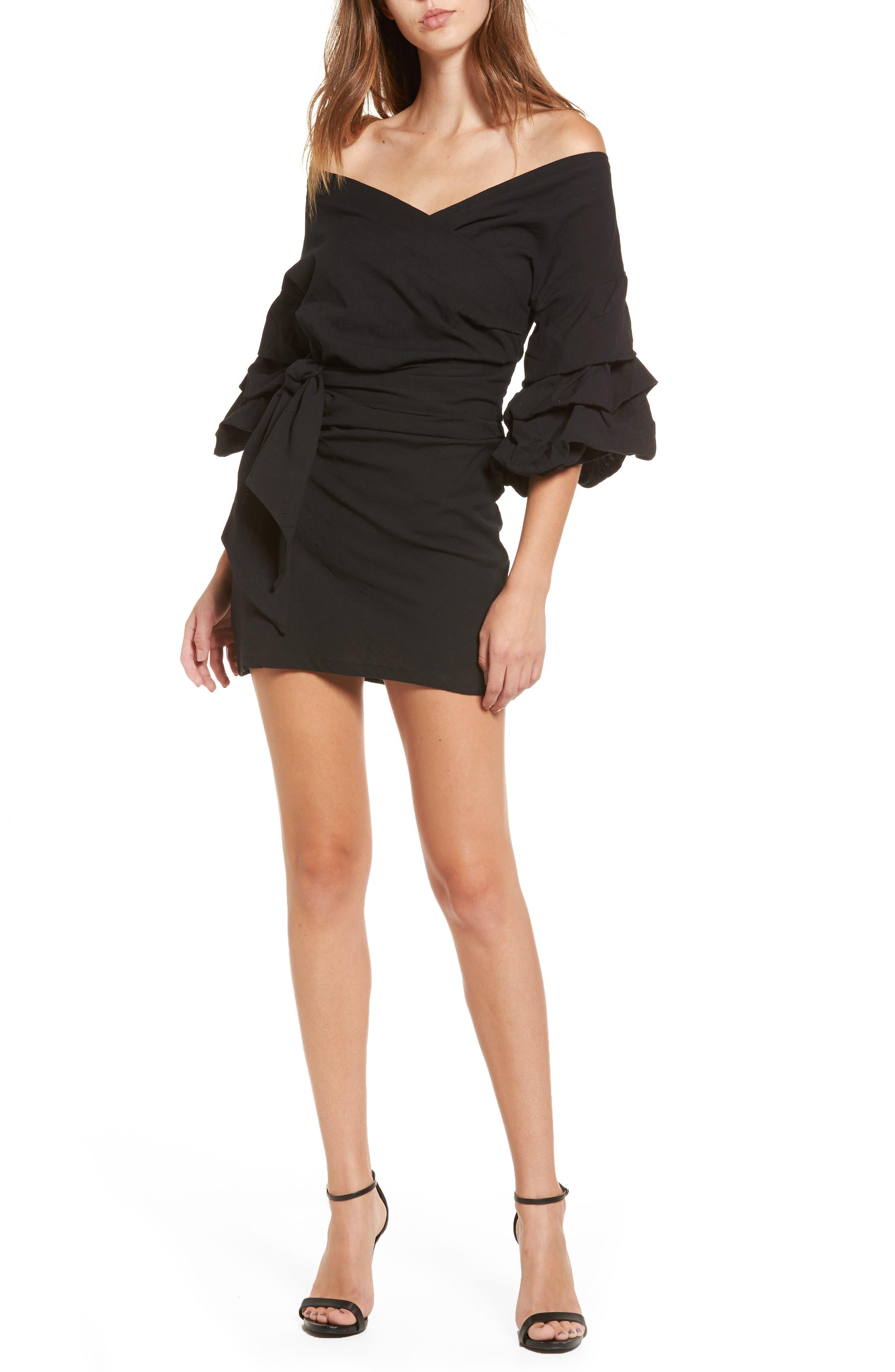Sicilian Affair Dress,                         Main,                         color, Black