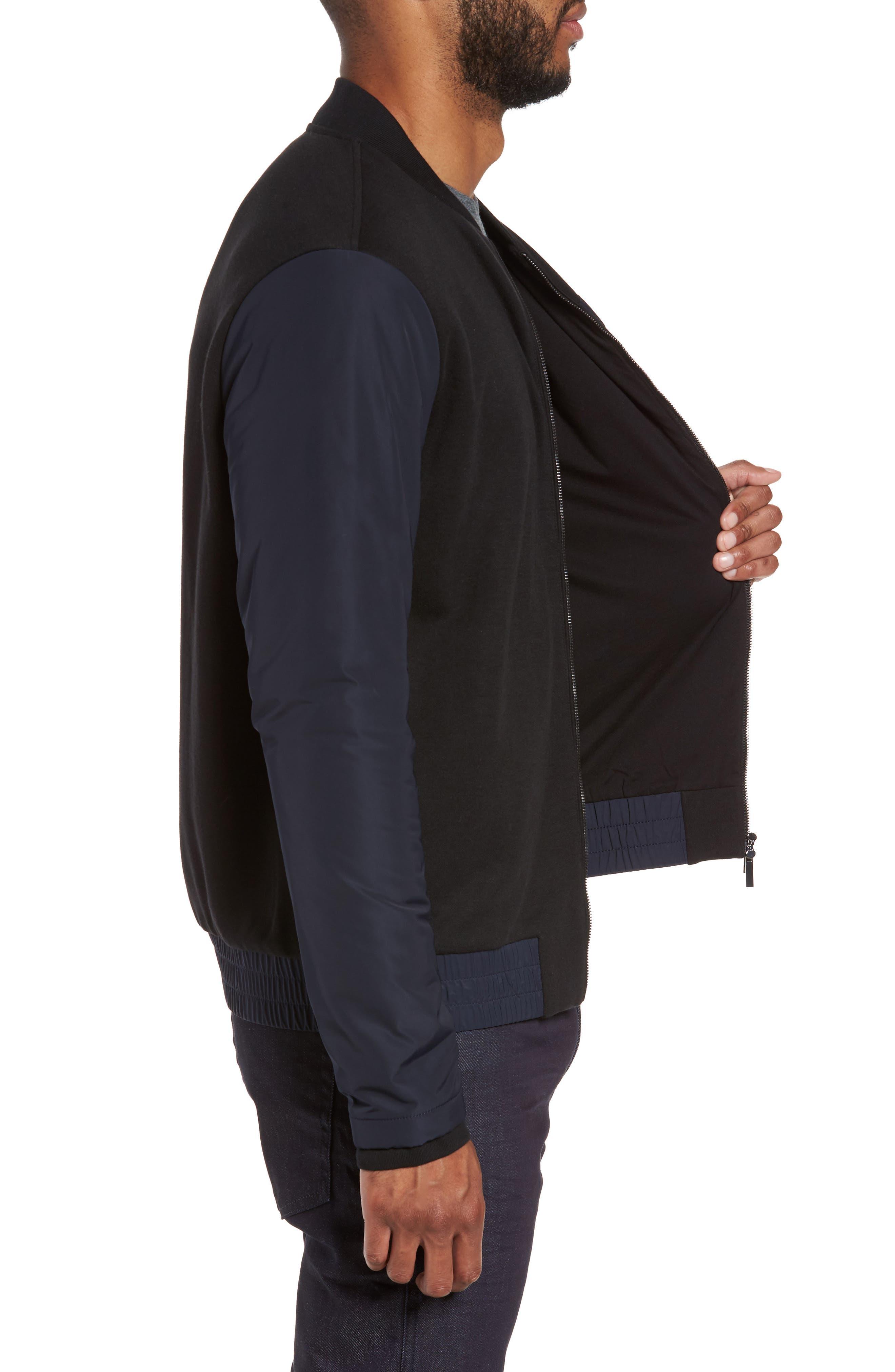Alternate Image 3  - BOSS Skiles 06 Mixed Media Bomber Jacket