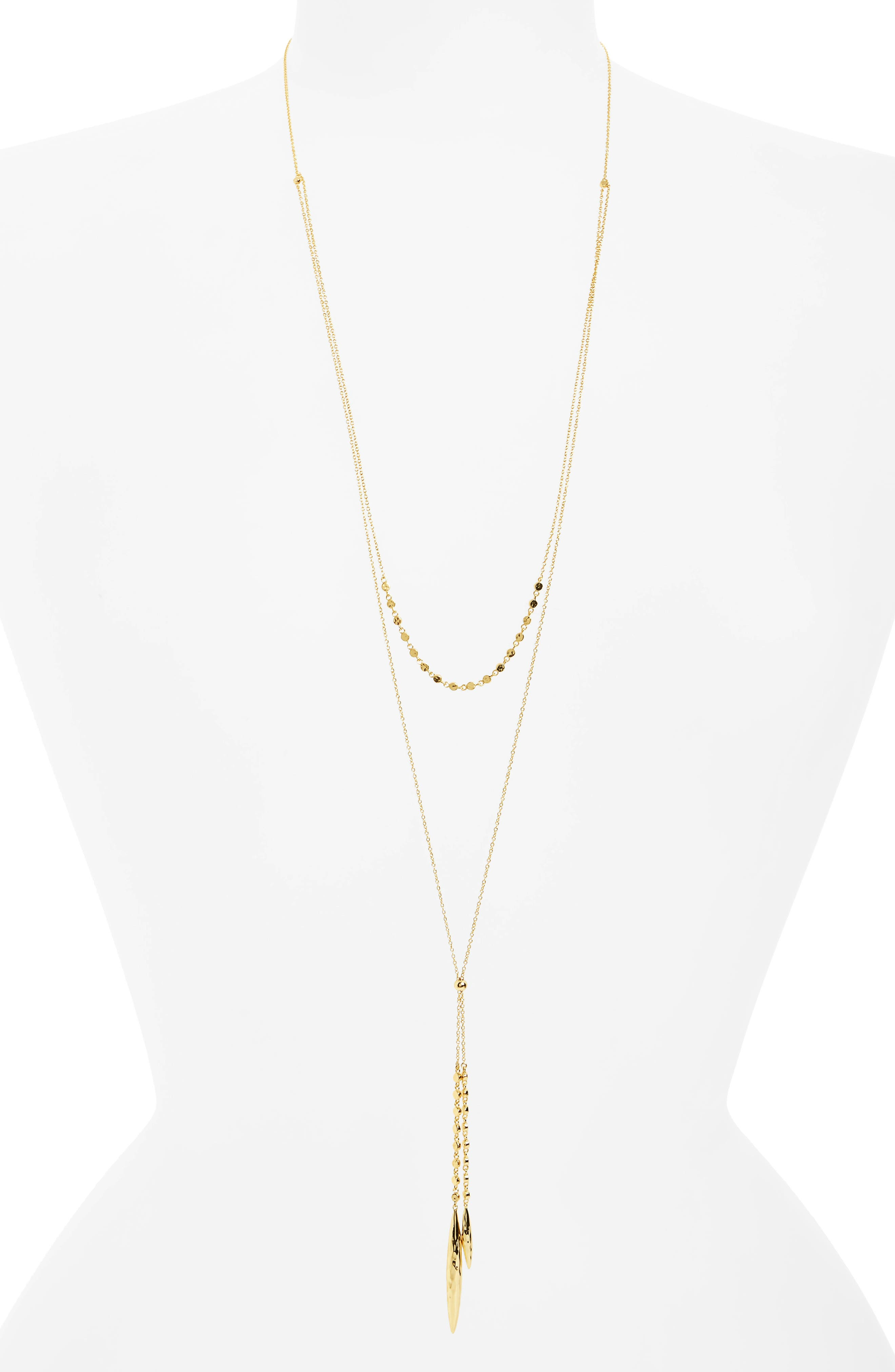 Chloe Multistrand Necklace,                         Main,                         color, Gold
