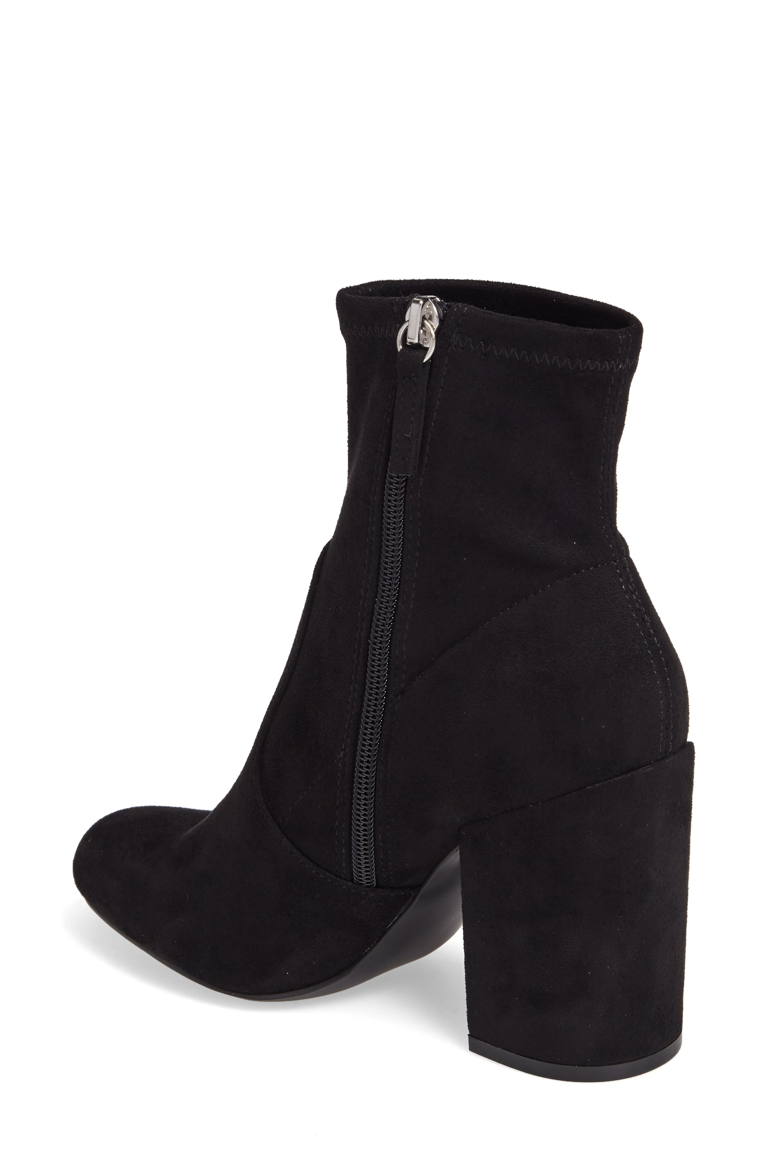 Gaze Bootie,                             Alternate thumbnail 2, color,                             Black Suede