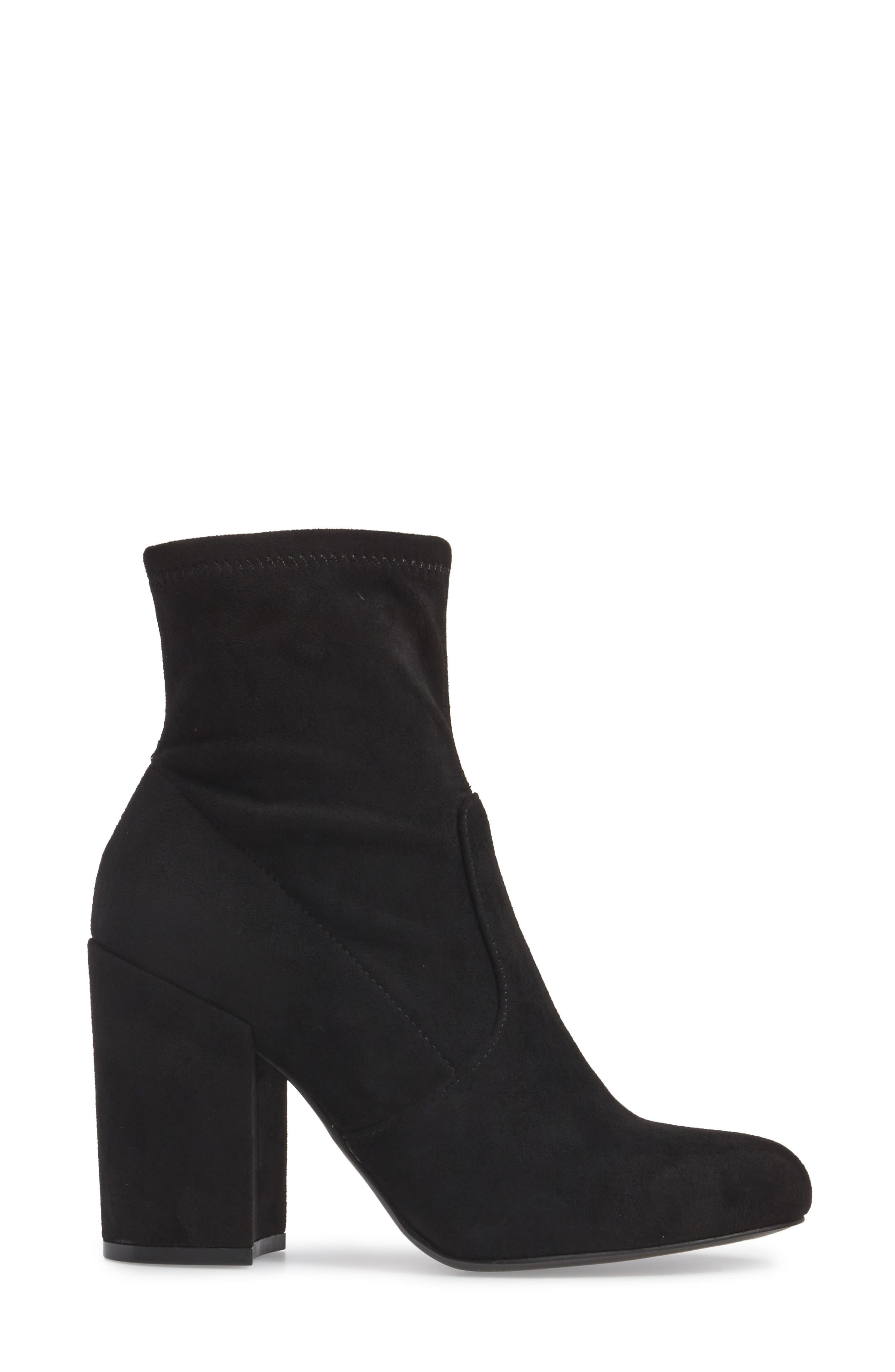 Gaze Bootie,                             Alternate thumbnail 3, color,                             Black Suede