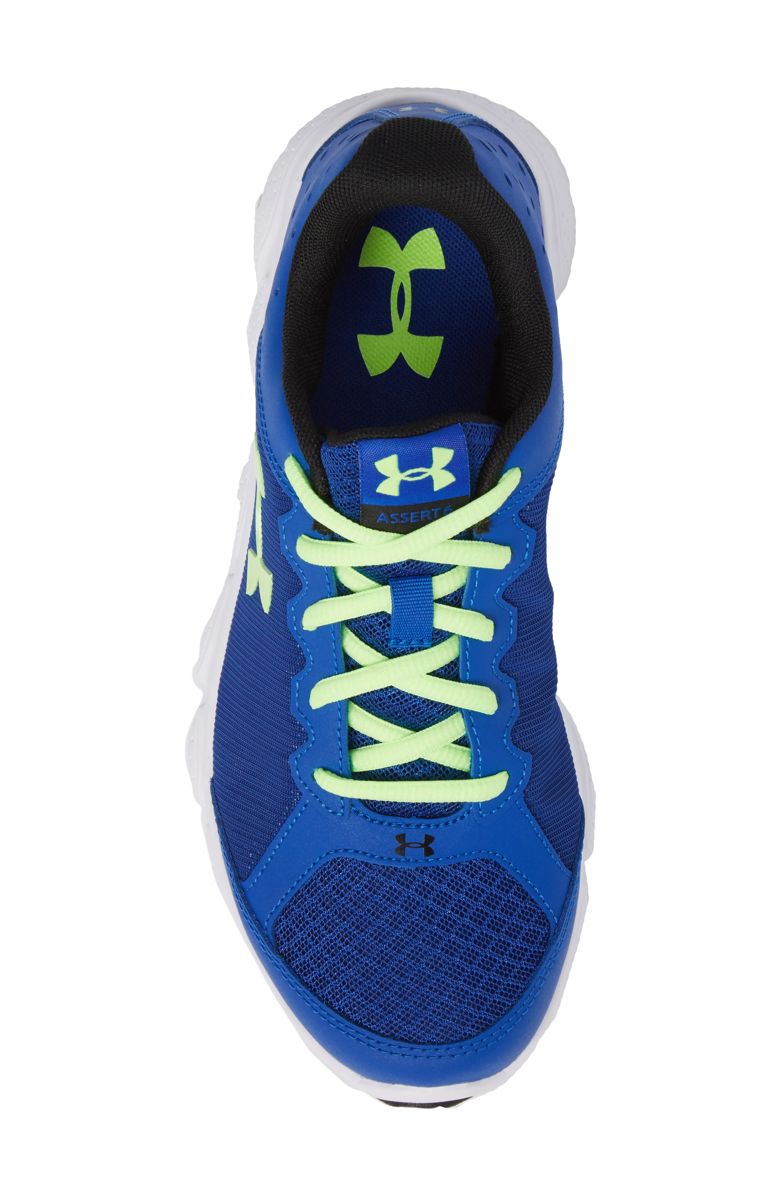 'Micro G<sup>®</sup> Assert VI' Running Shoe,                             Alternate thumbnail 5, color,                             Royal/ White/ Quirky Lime