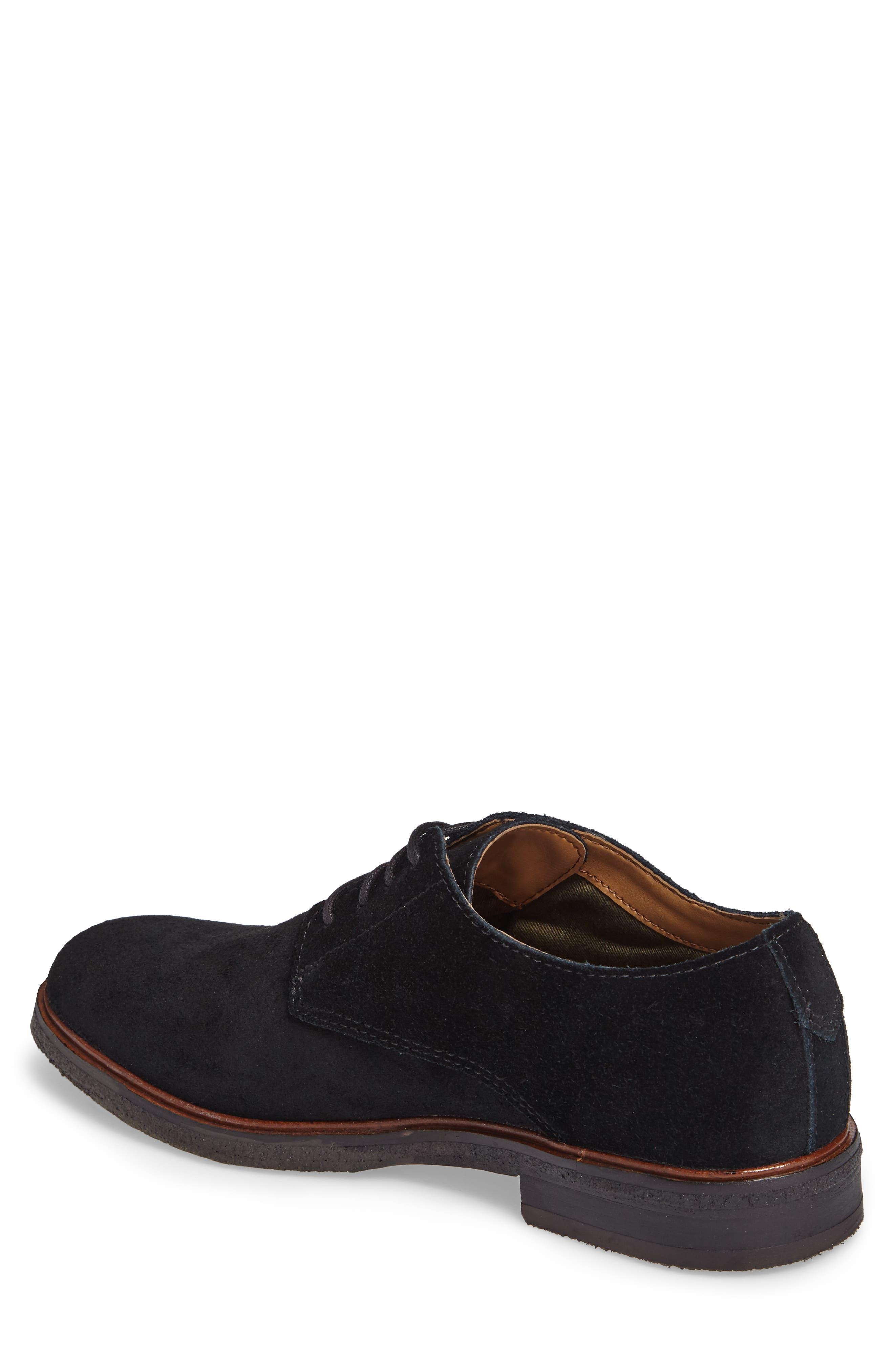 Clarks Clarkdale Moon Buck Shoe,                             Alternate thumbnail 2, color,                             Black Suede