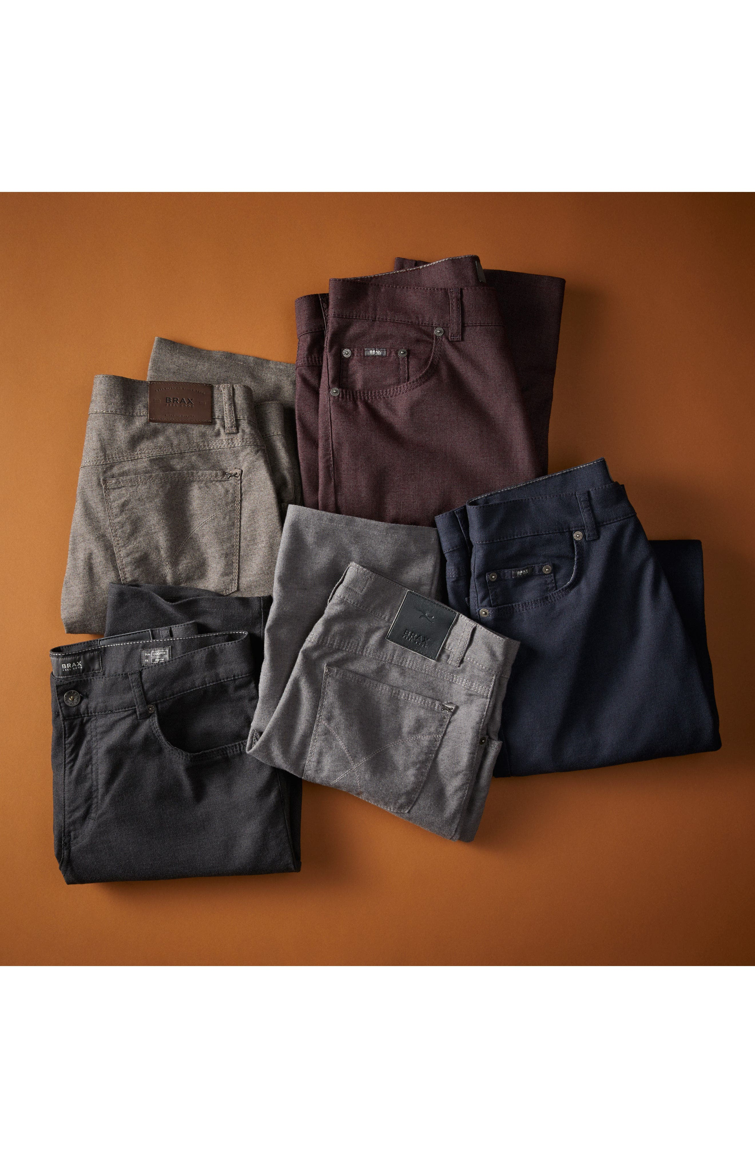 Alternate Image 8  - Brax Five-Pocket Stretch Cotton Trousers
