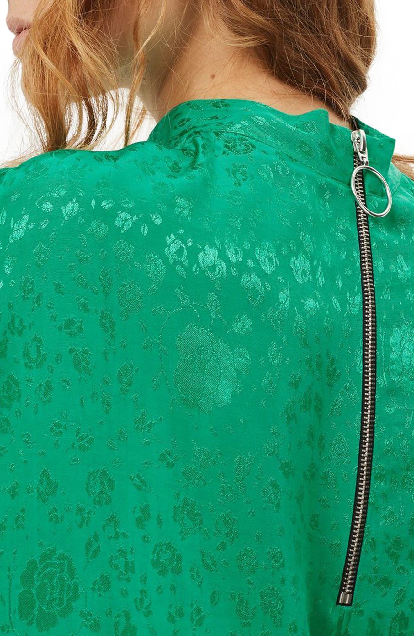 Jacquard Kimono Sleeve Top,                             Alternate thumbnail 3, color,                             Bright Green