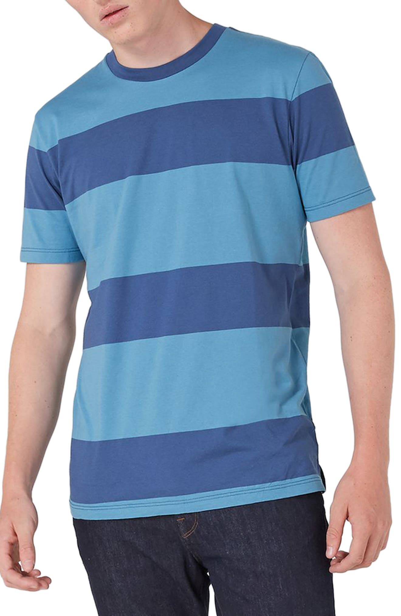 Main Image - Topman Stripe T-Shirt