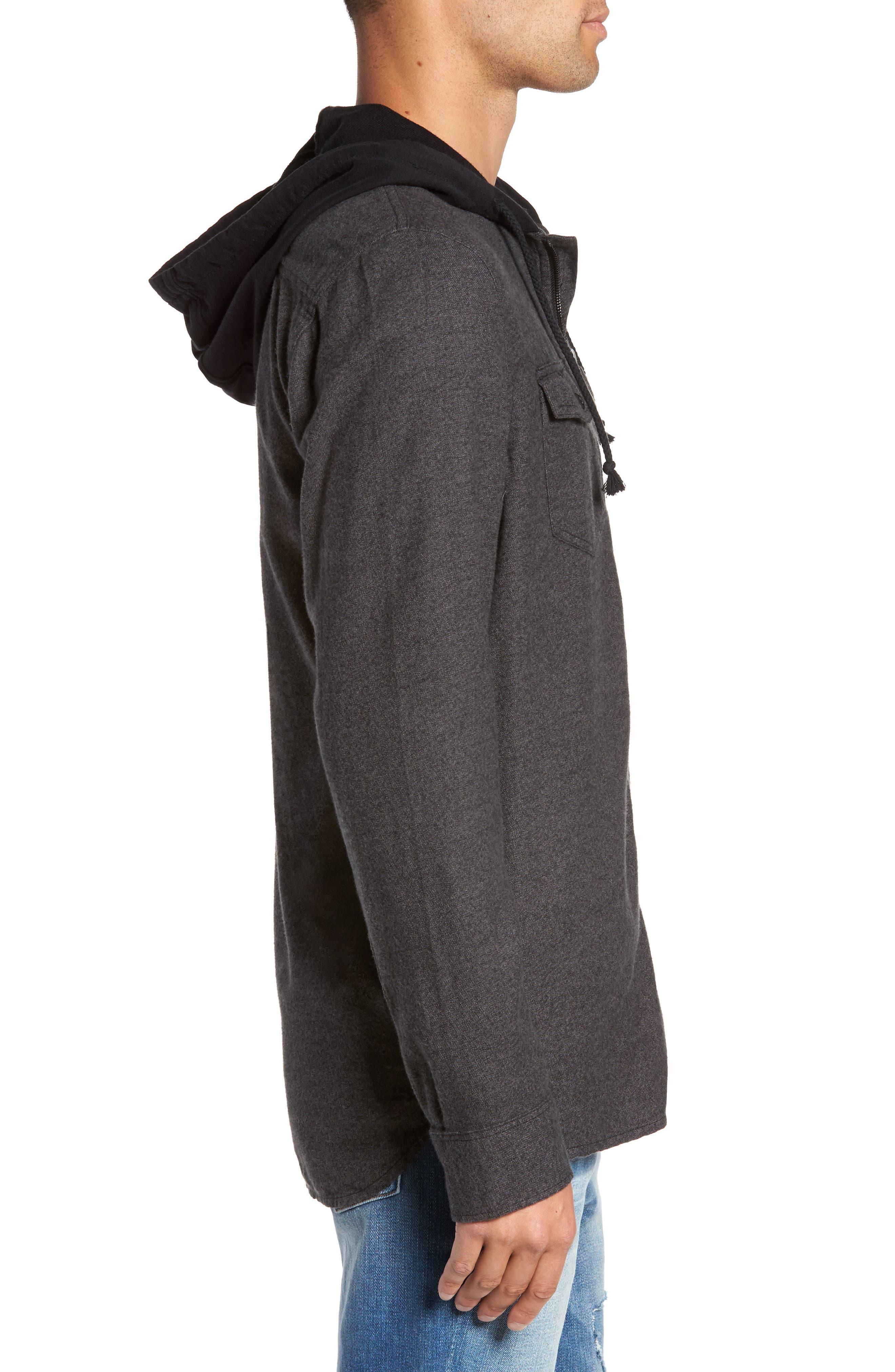 Alternate Image 3  - Vans Never Mind Hooded Zip Shirt Jacket