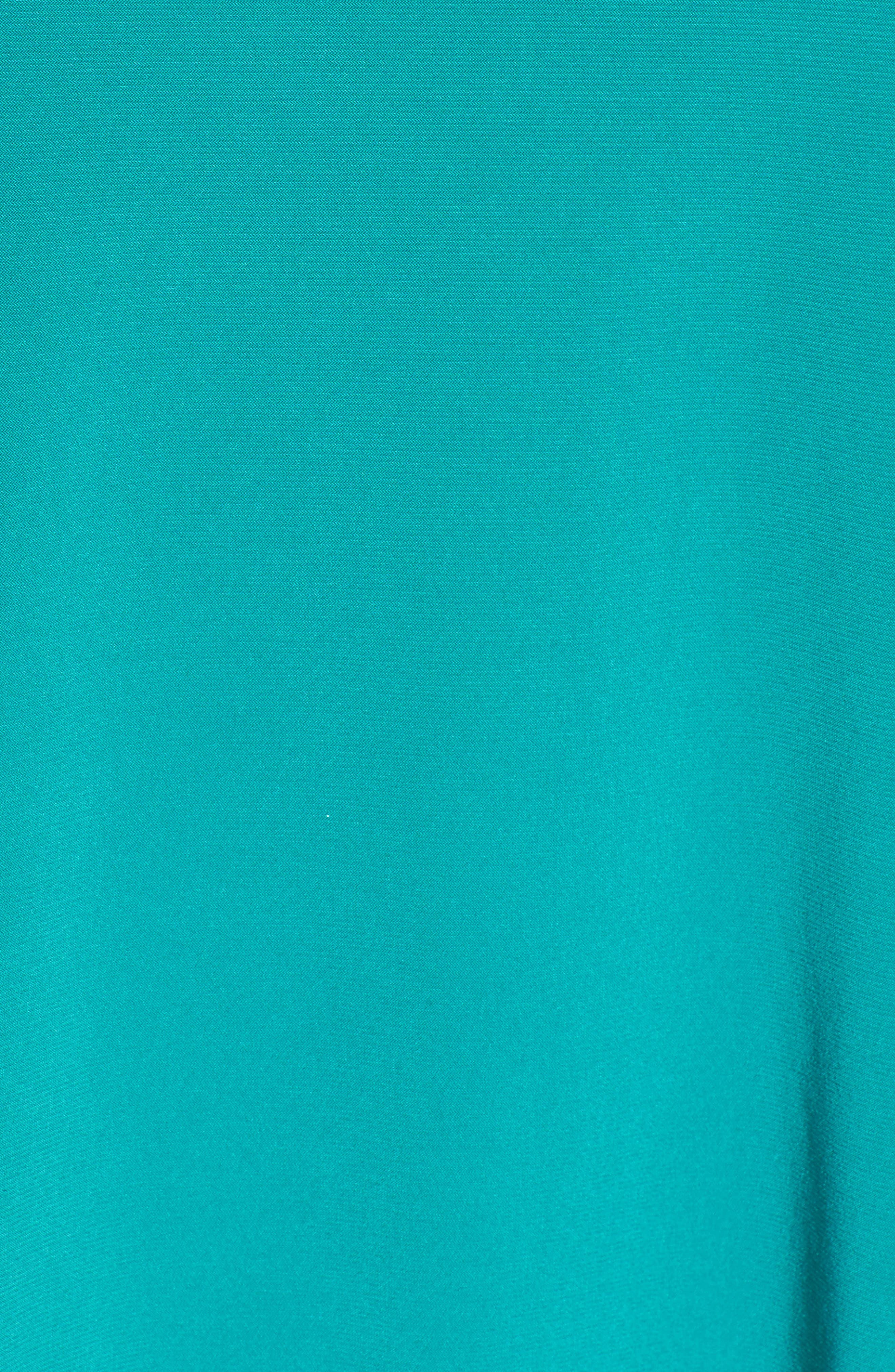 Bell Sleeve Keyhole Top,                             Alternate thumbnail 5, color,                             Radiant Teal