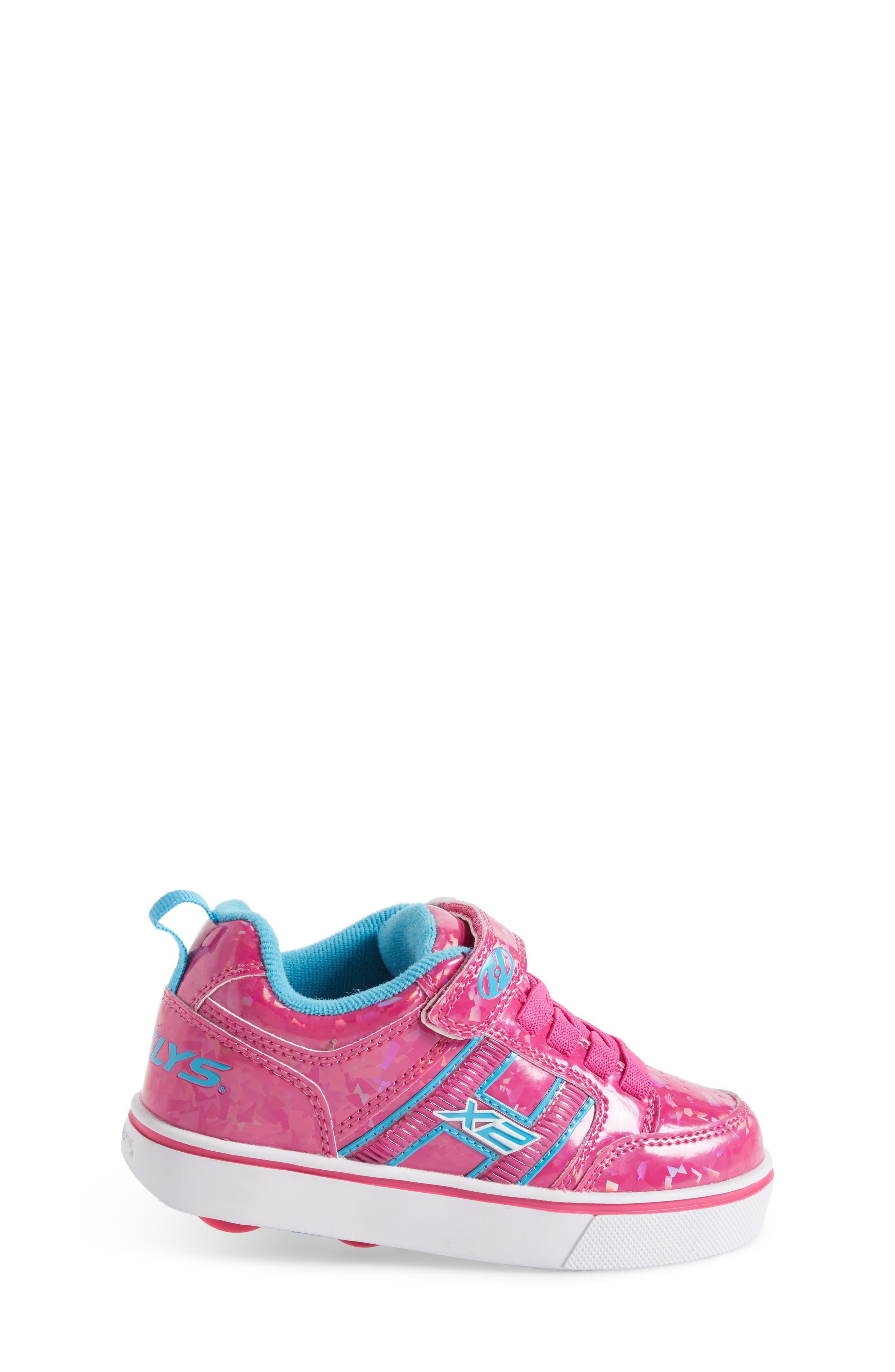 Bolt Plus X2 Light-Up Skate Sneaker,                             Alternate thumbnail 3, color,                             Hot Pink Hologram/ Neon Blue