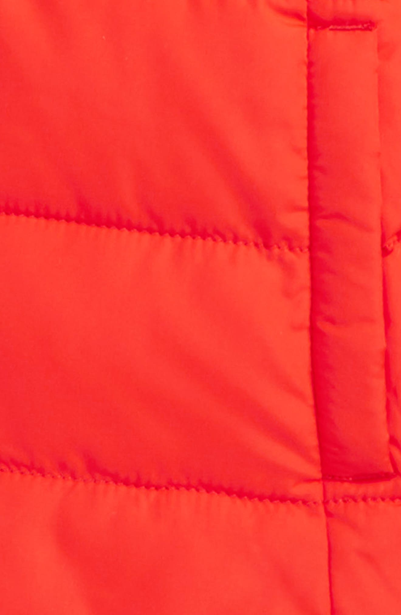 Long Padded Water Resistant Jacket,                             Alternate thumbnail 2, color,                             Red Rosehip